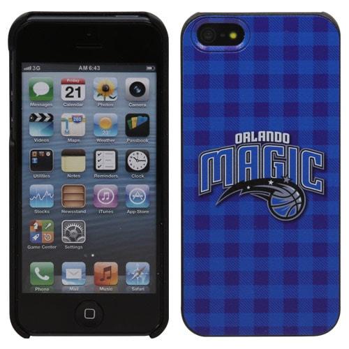 Orlando Magic iPhone 5 Plaid Snap-On Case - Royal Blue