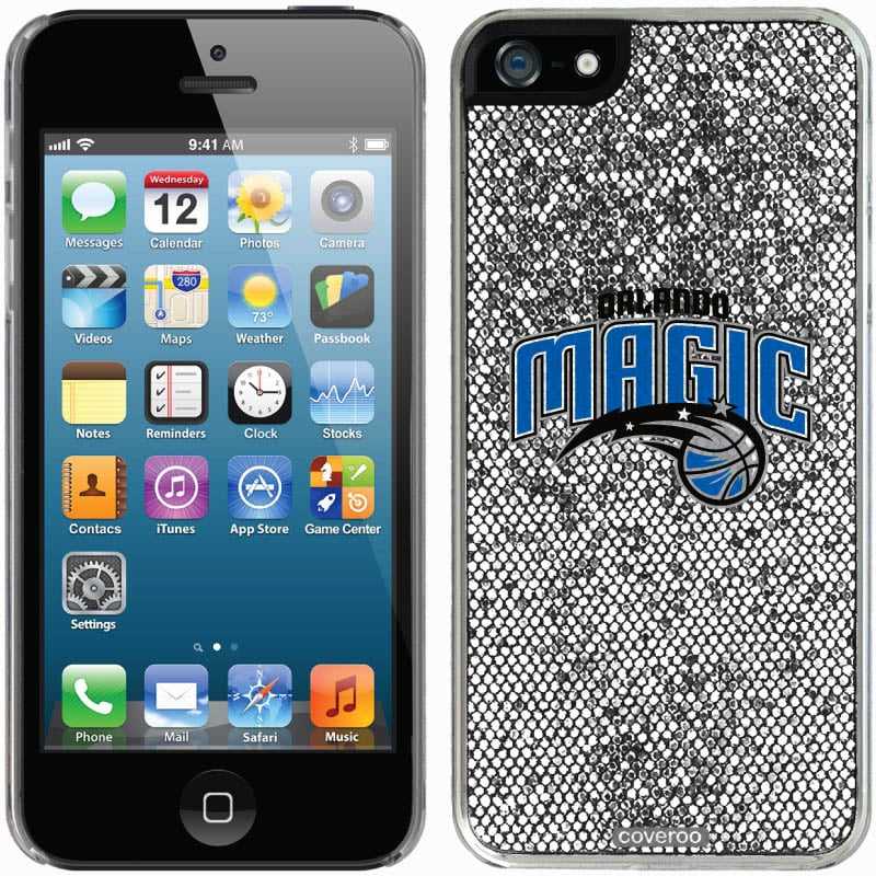 Orlando Magic iPhone 5/5s Bling Thinshield Snap-On Case - Silver