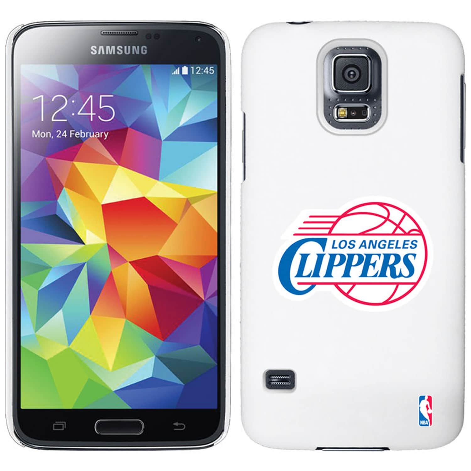 LA Clippers Galaxy S5 Primary Logo Thinshield Case - White
