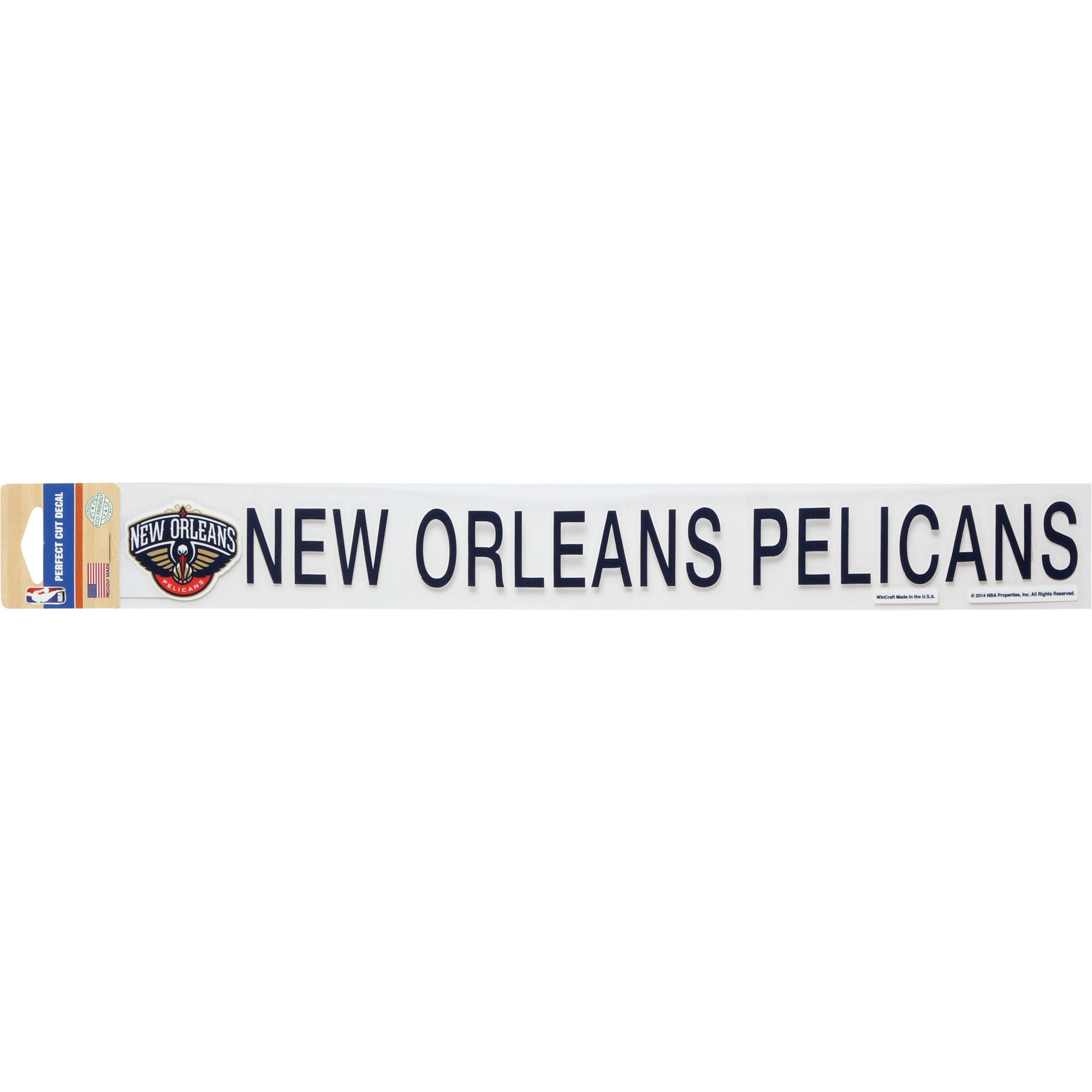 """New Orleans Pelicans 2"""" x 17"""" Perfect Decal"""