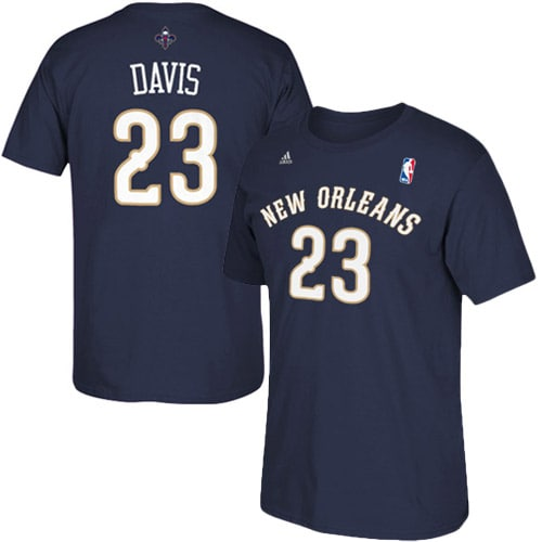 Anthony Davis New Orleans Pelicans adidas Net Number T-Shirt - Navy Blue