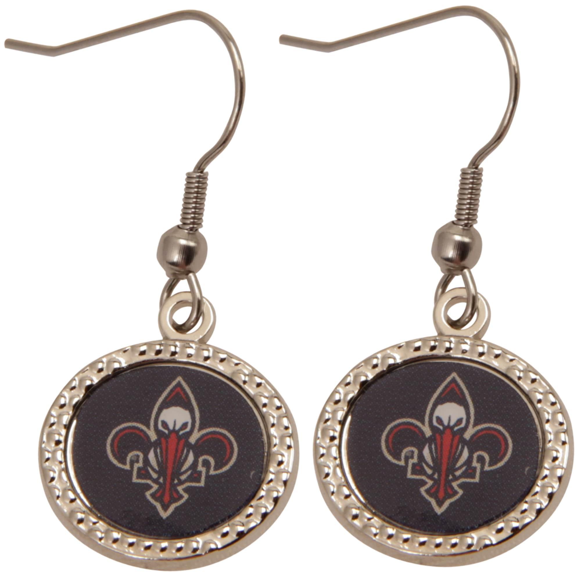 New Orleans Pelicans WinCraft Women's Round Dangle Earrings