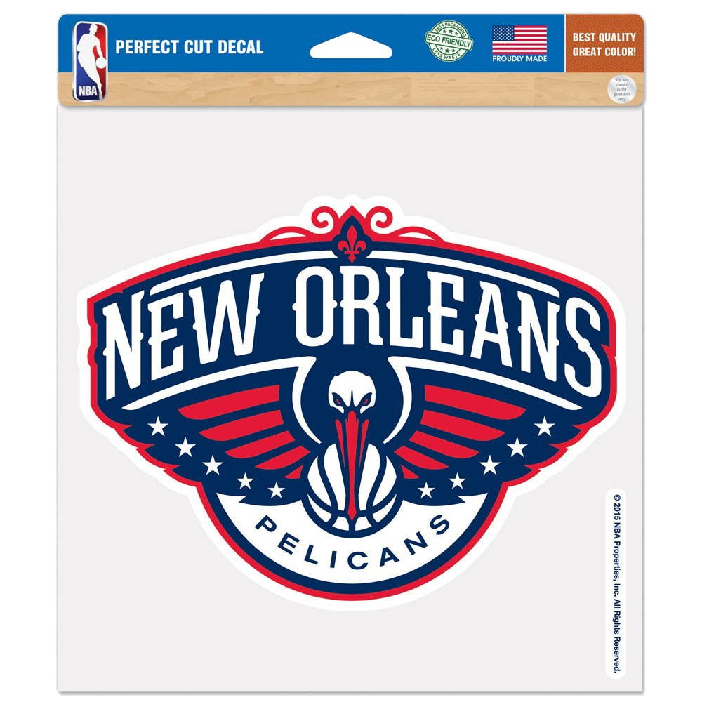 """New Orleans Pelicans WinCraft 8"""" x 8"""" Color Decal"""