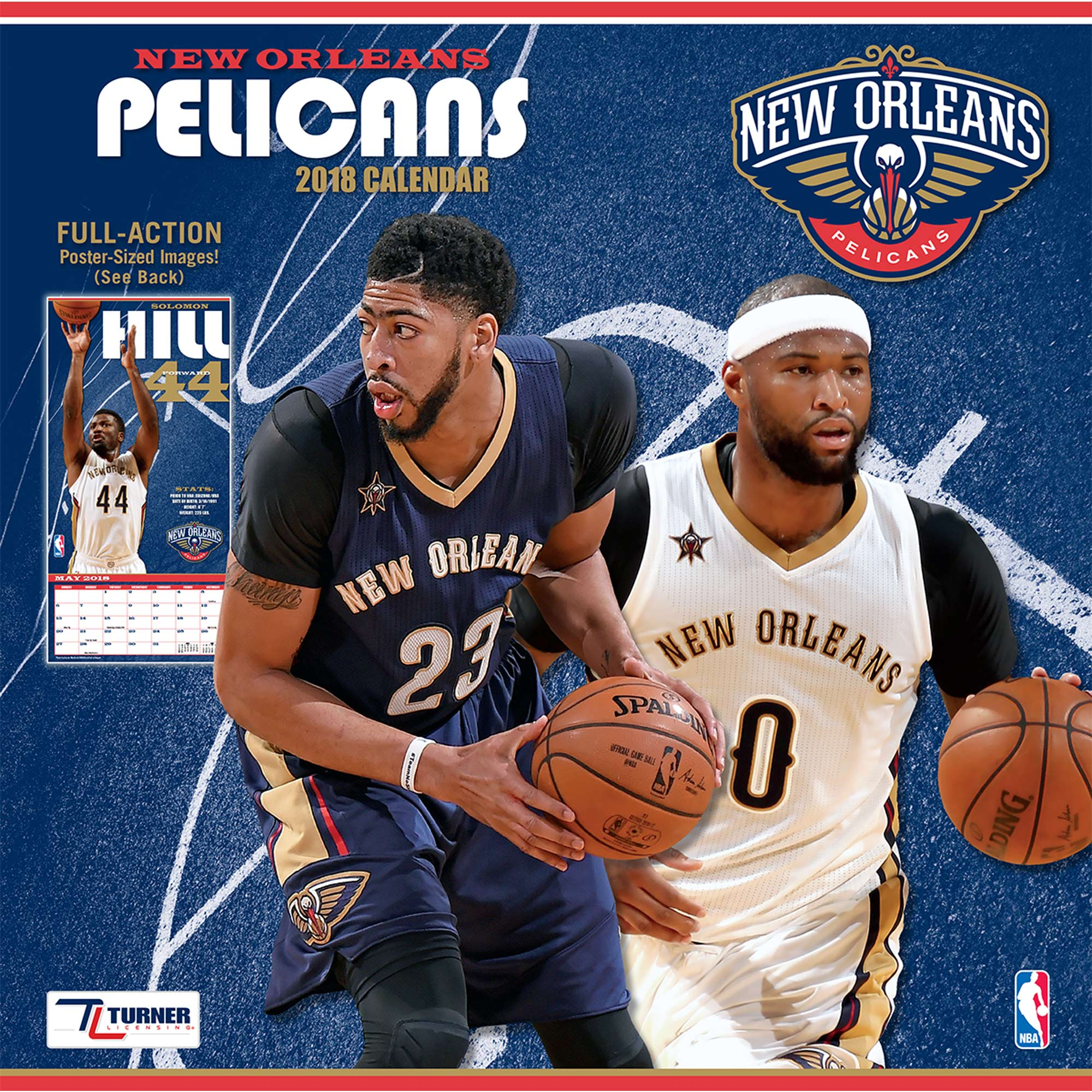 "New Orleans Pelicans 2018 12"" x 12"" Team Wall Calendar"