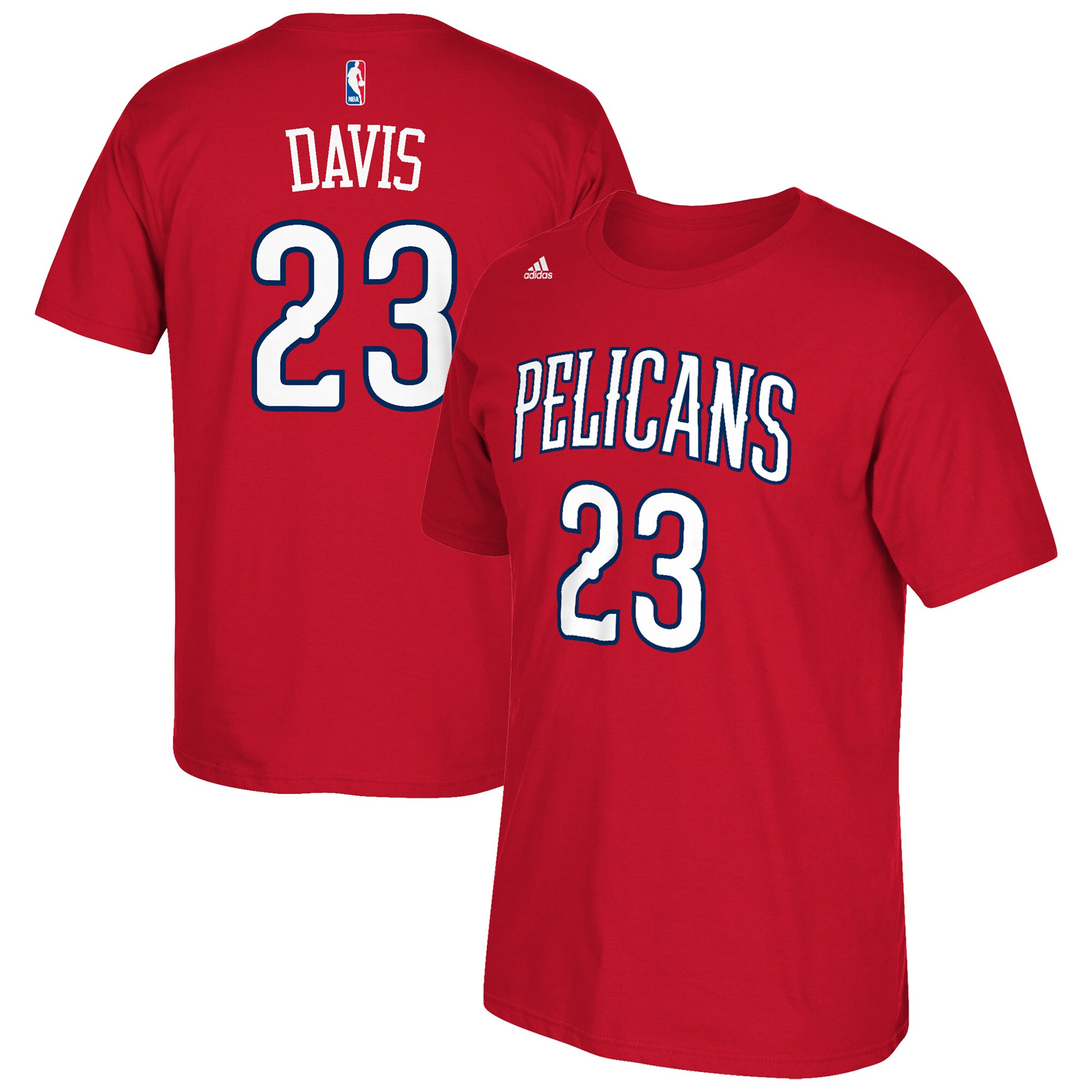 Anthony Davis New Orleans Pelicans adidas Net Number T-Shirt - Red