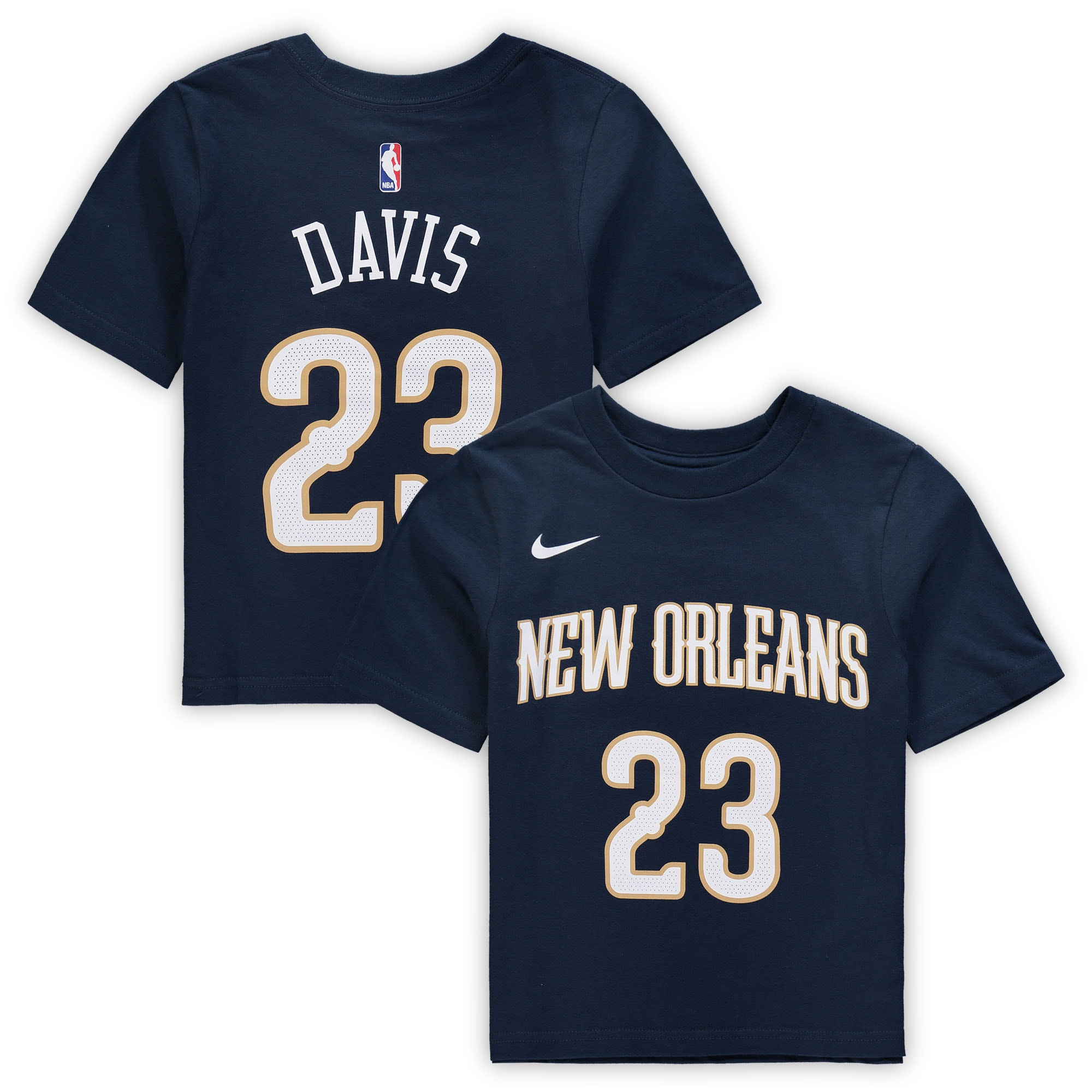 Anthony Davis New Orleans Pelicans Nike Preschool Name & Number T-Shirt - Navy