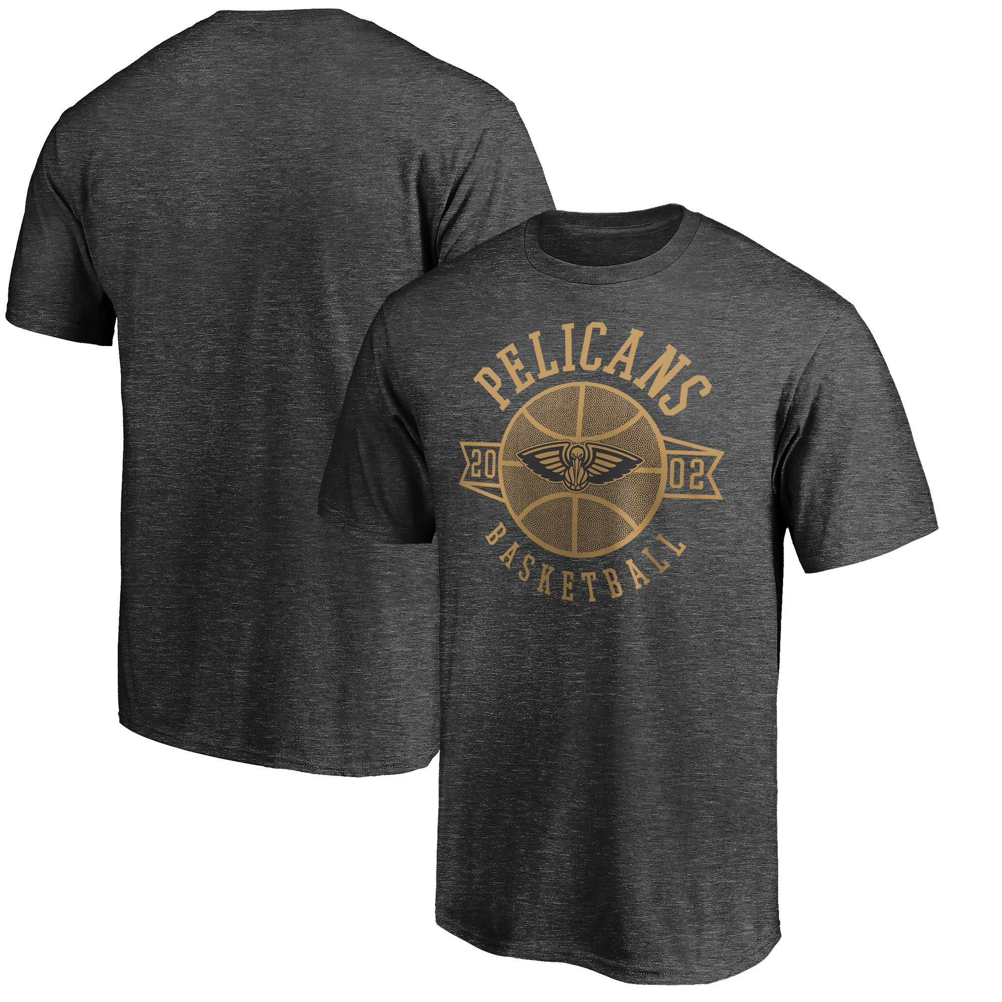 New Orleans Pelicans Fanatics Branded Showtime International Foul T-Shirt - Heathered Charcoal