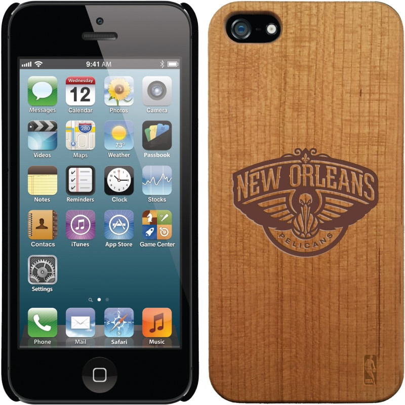 New Orleans Pelicans Wooden iPhone 5 Primary Case