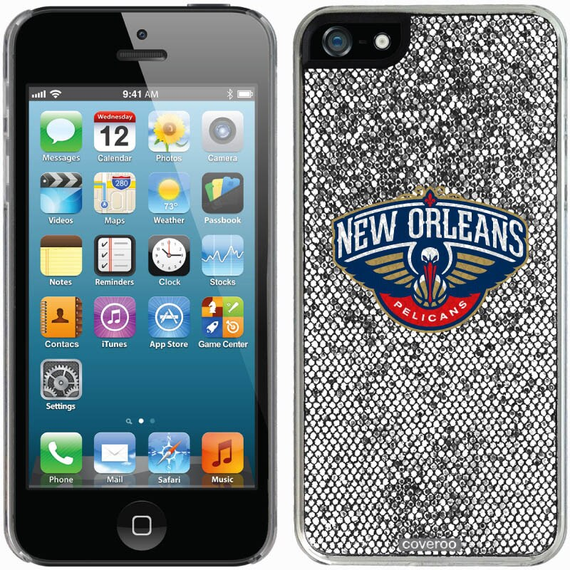 New Orleans Pelicans iPhone 5/5s Bling Thinshield Snap-On Case - Silver