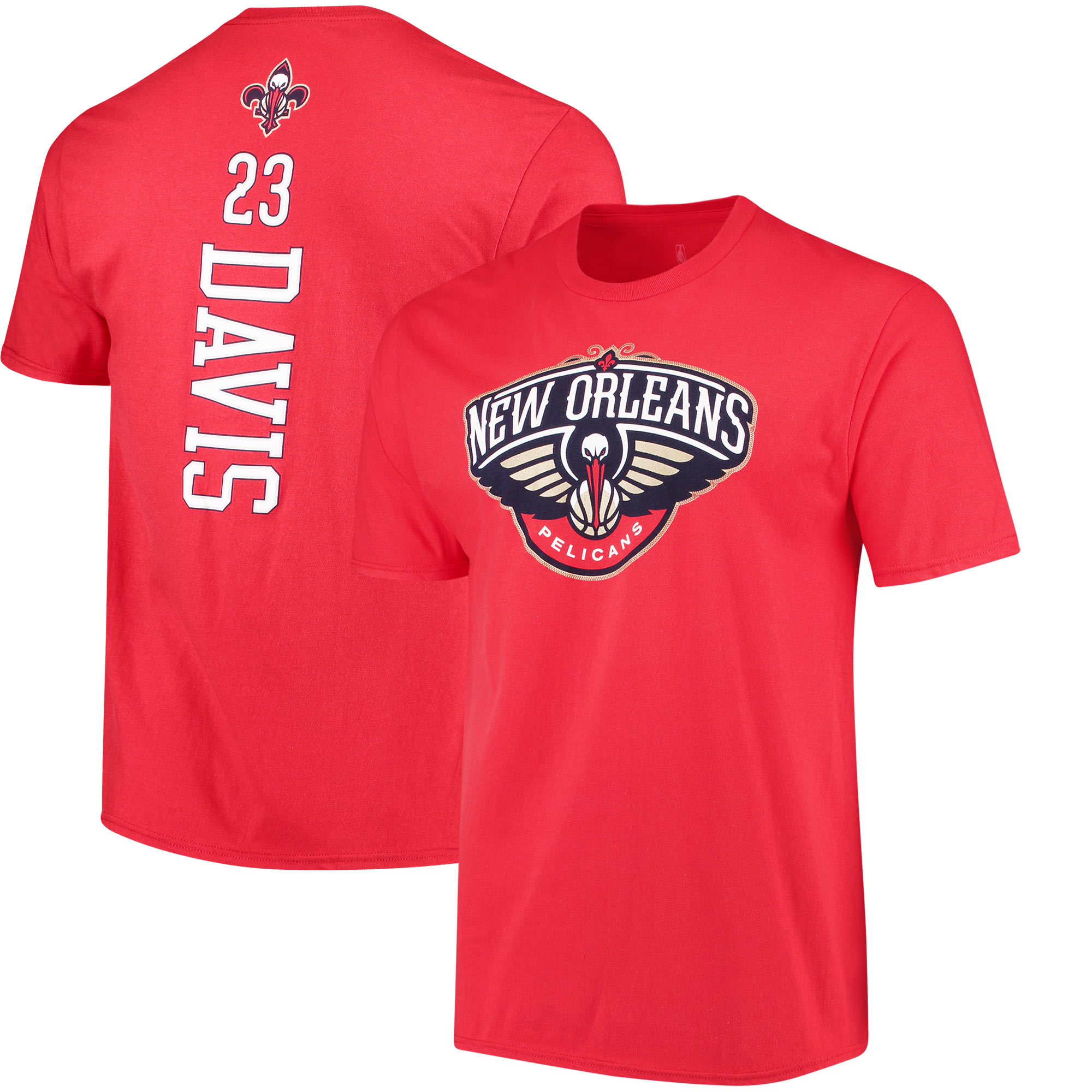 Anthony Davis New Orleans Pelicans Fanatics Branded Backer Name & Number T-Shirt - Red