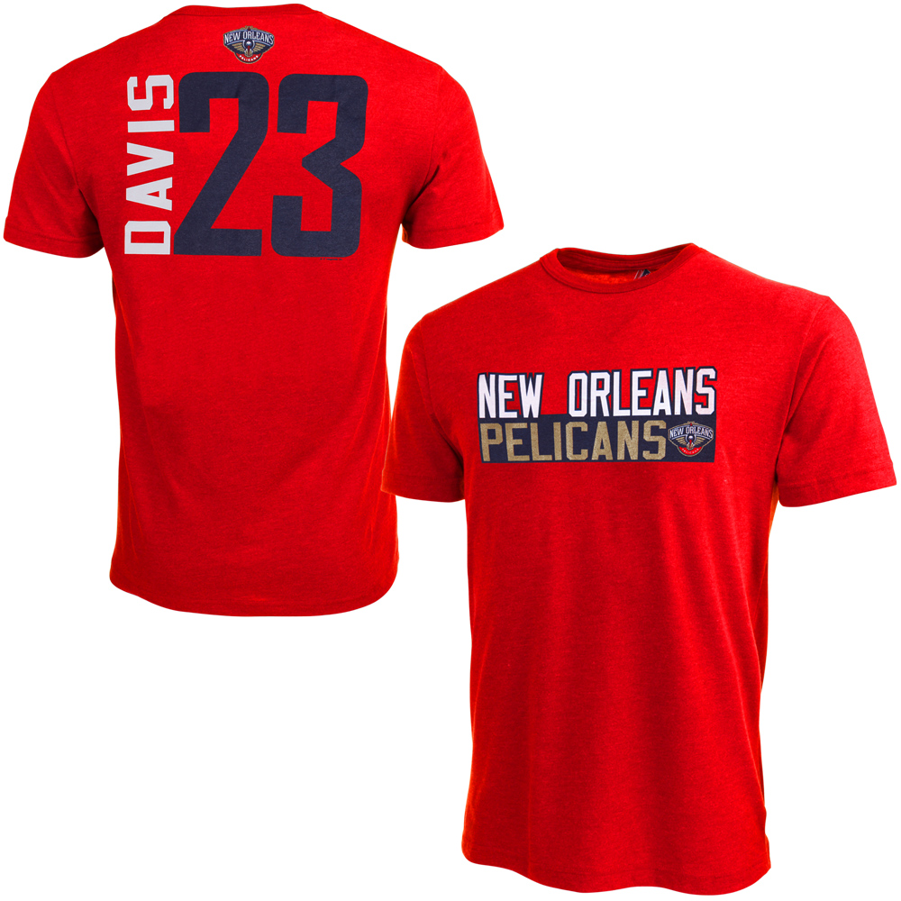 Anthony Davis New Orleans Pelicans Vertical Name & Number T-Shirt - Red