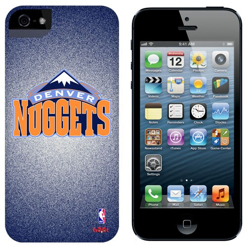 Denver Nuggets iPhone 5 Game Ball Case - Navy Blue