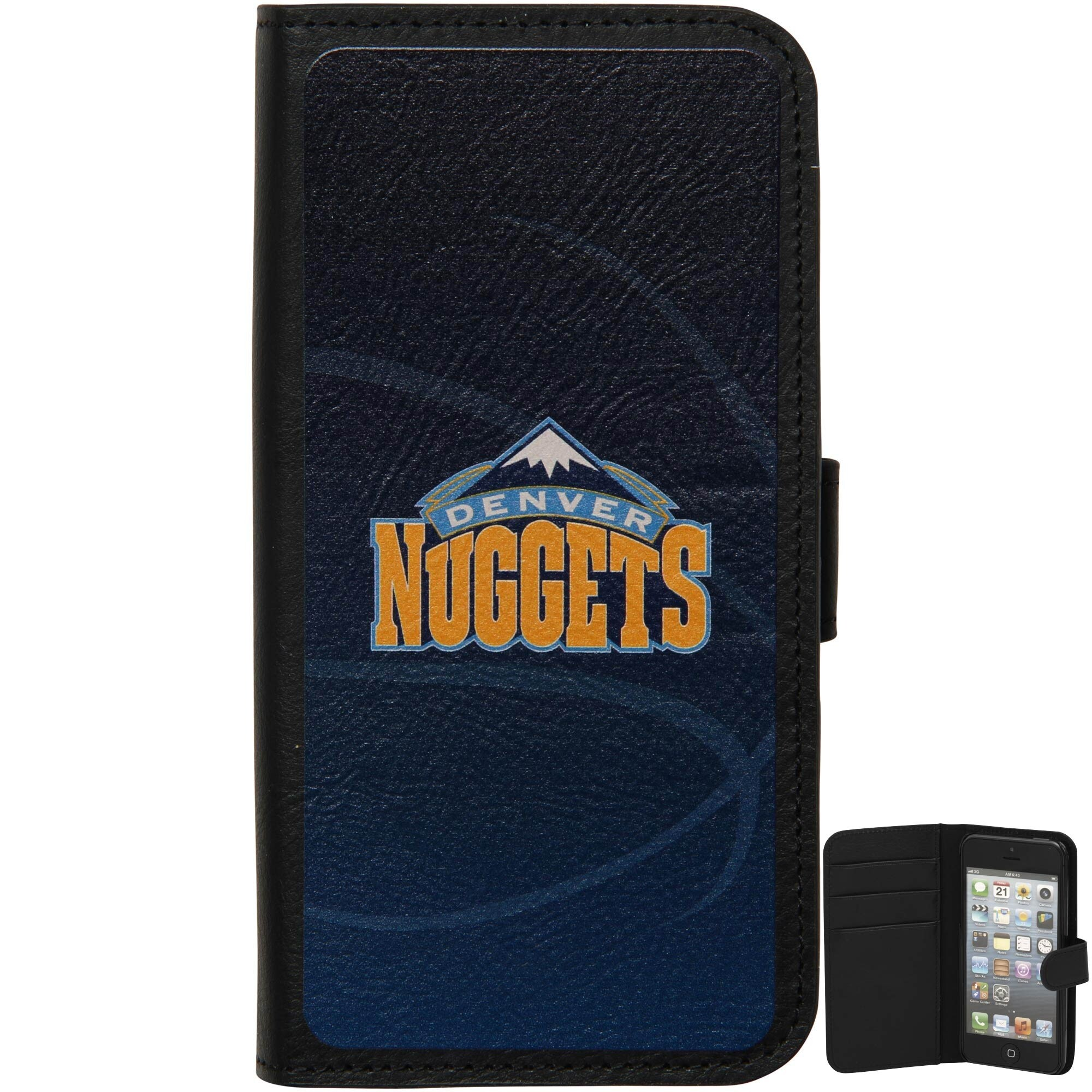 Denver Nuggets Basketball iPhone 5 Wallet - Black