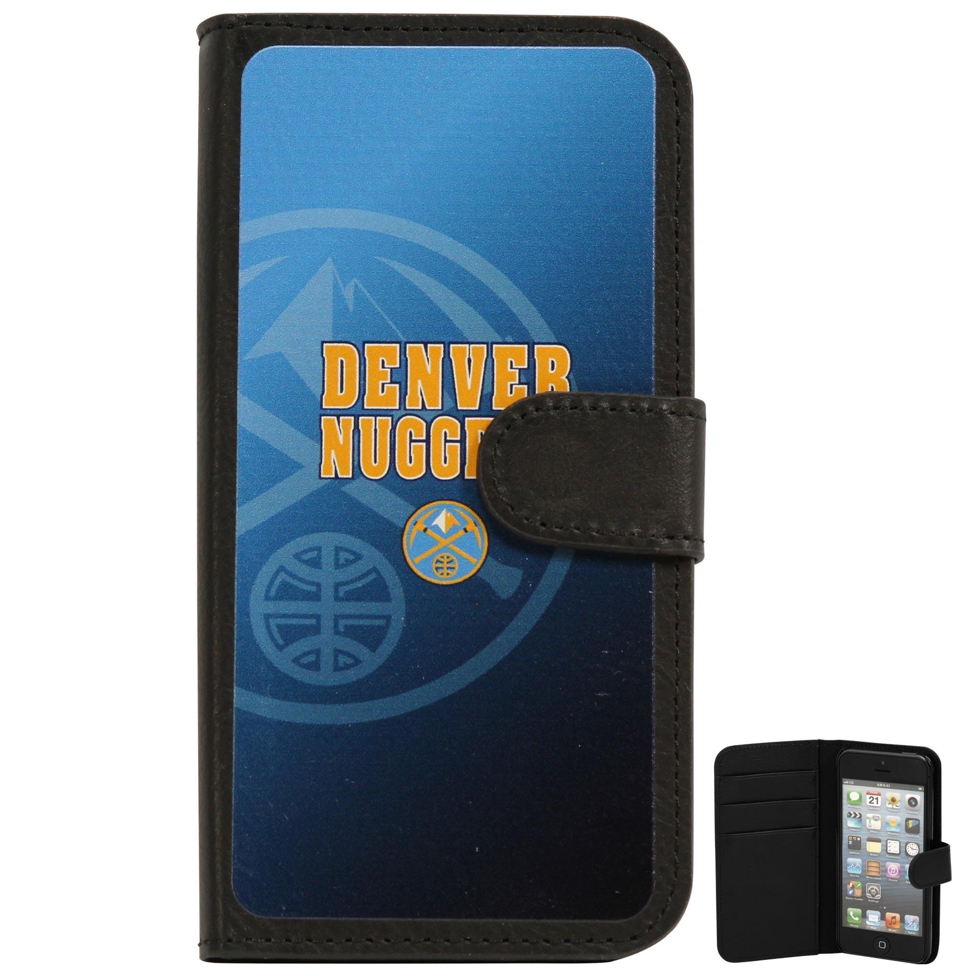 Denver Nuggets Watermark iPhone 5 Wallet - Black/Royal Blue