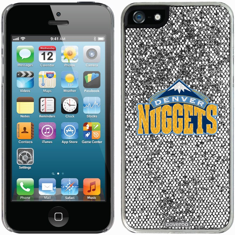 Denver Nuggets iPhone 5/5s Bling Thinshield Snap-On Case - Silver