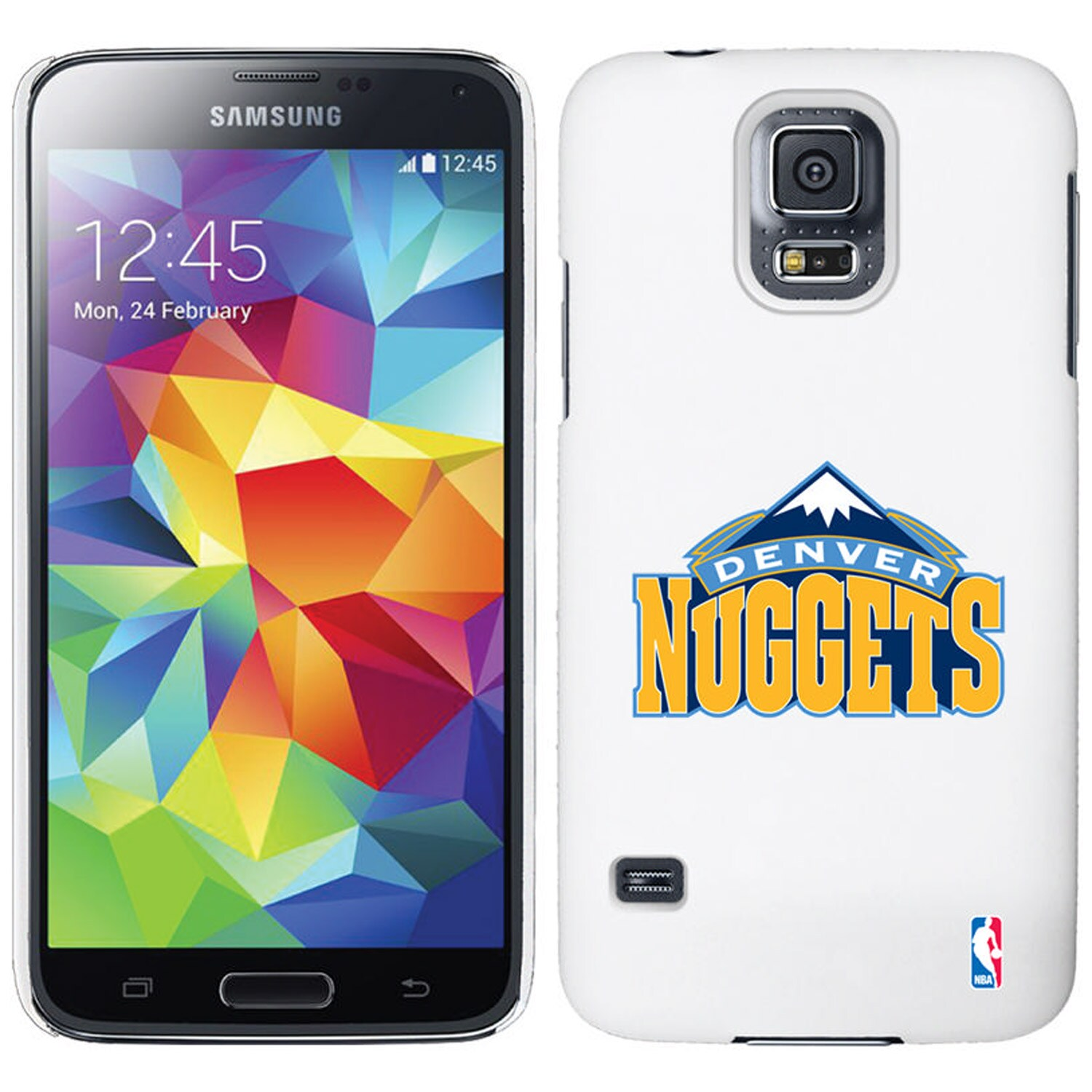 Denver Nuggets Galaxy S5 Primary Logo Thinshield Case - White