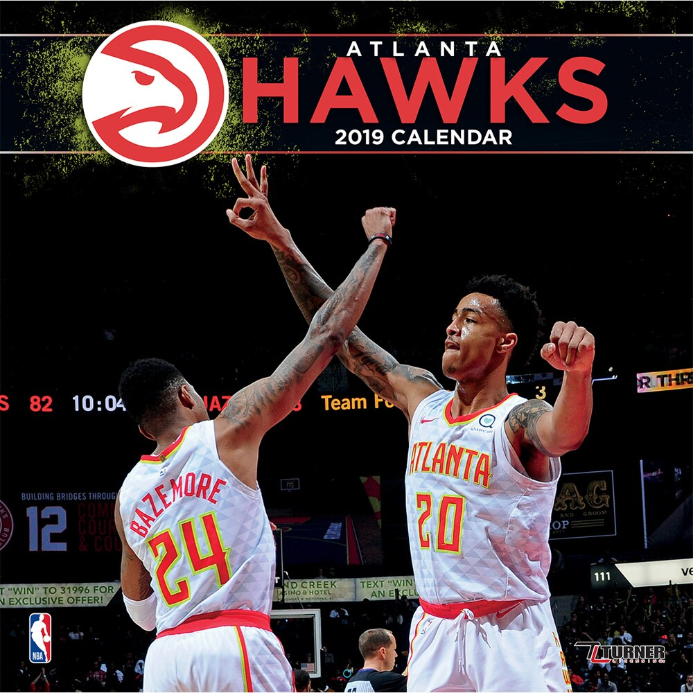 "Atlanta Hawks 2019 12"" x 12"" Team Wall Calendar"