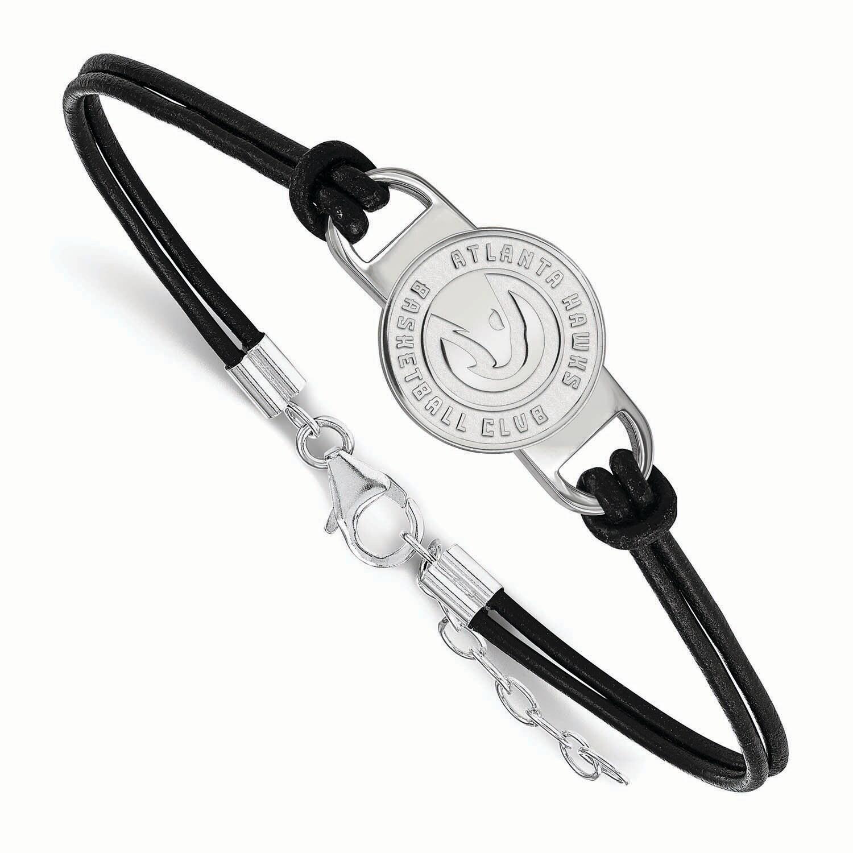 Atlanta Hawks Women's Leather Bracelet