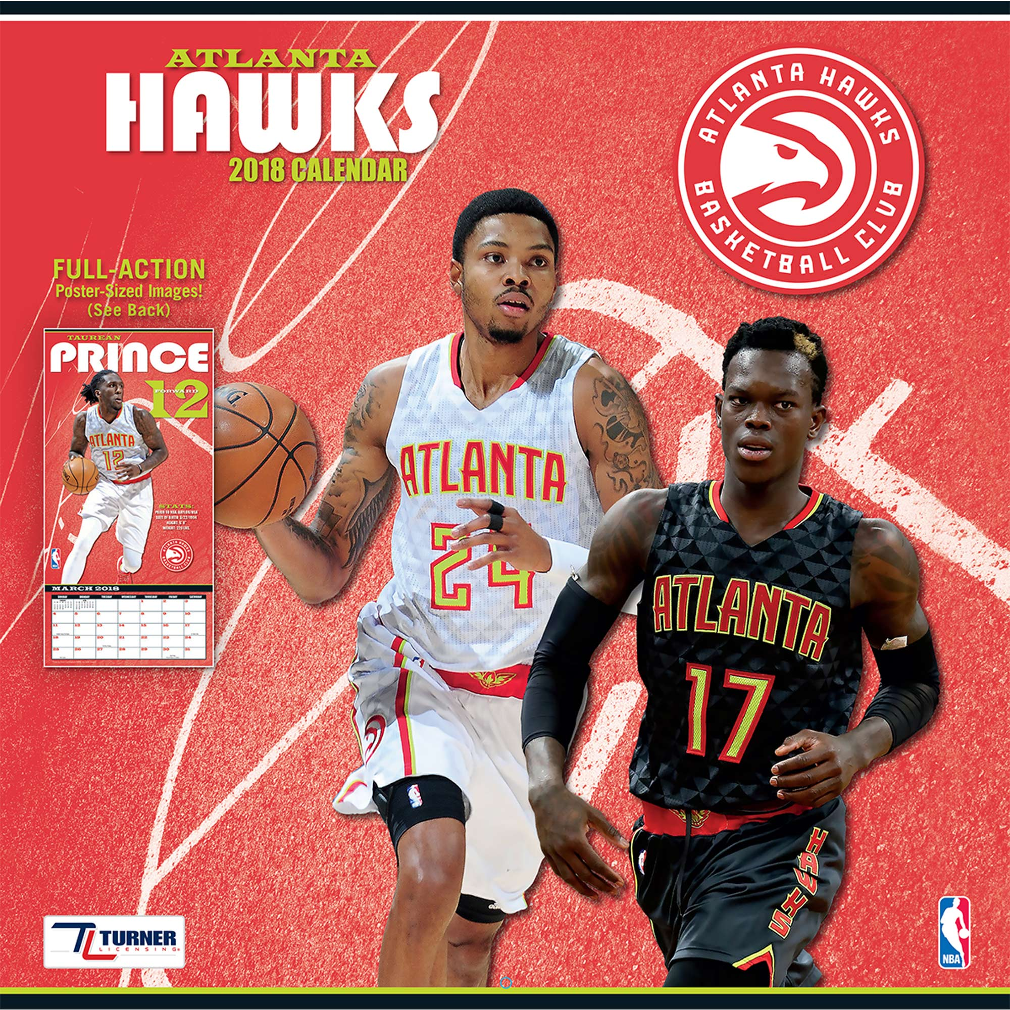 "Atlanta Hawks 2018 12"" x 12"" Team Wall Calendar"