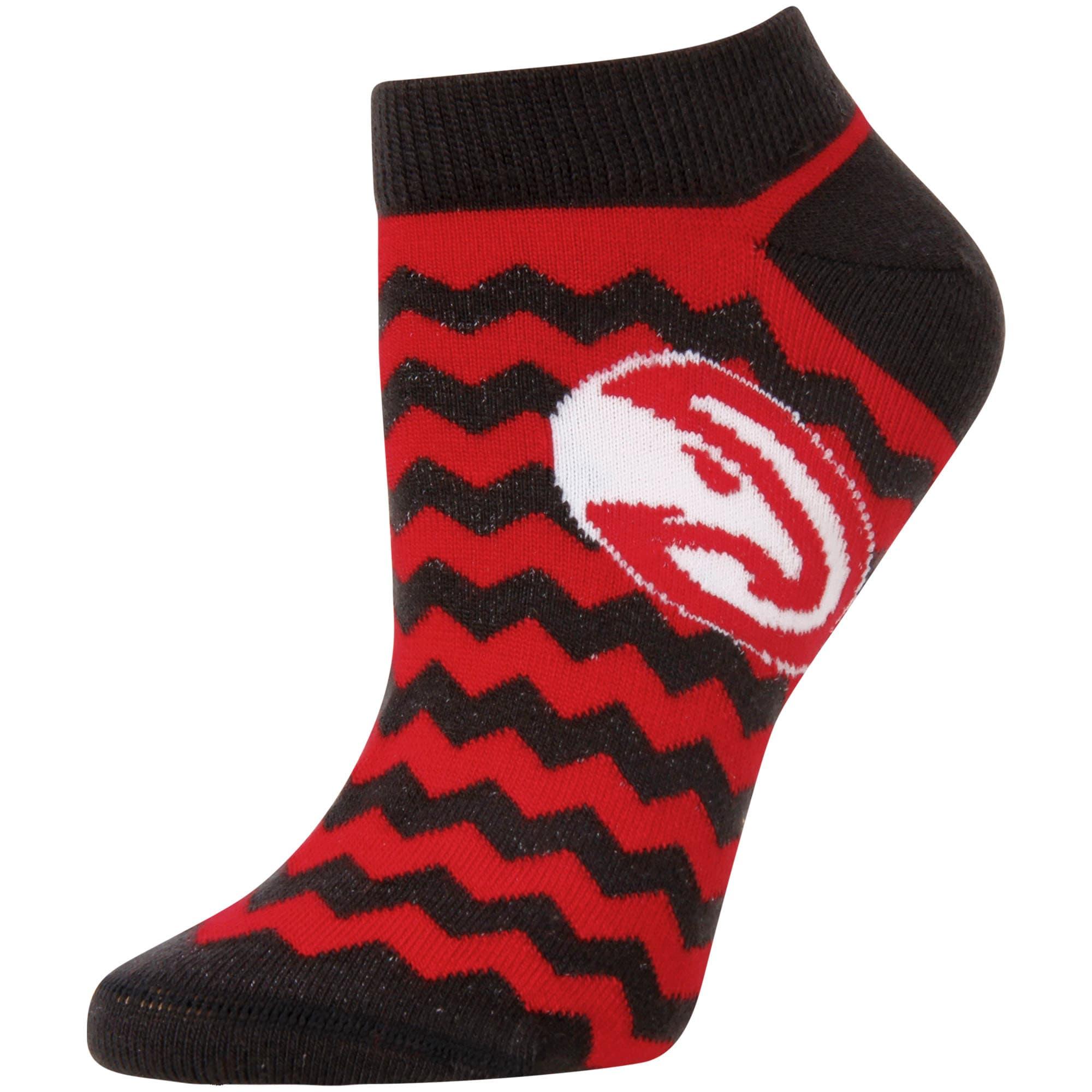 Atlanta Hawks For Bare Feet Women's Chevron Stripe Ankle Socks