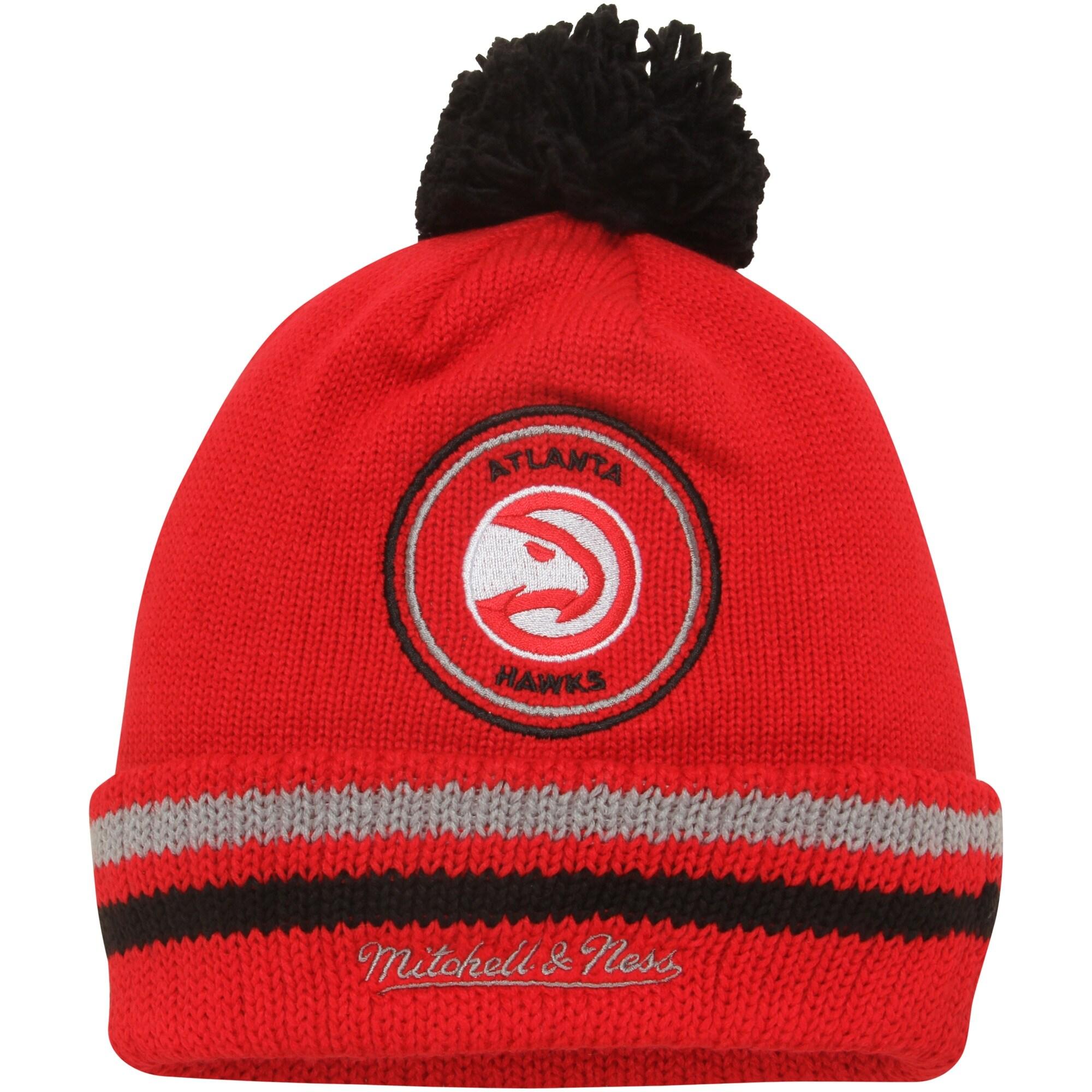 Atlanta Hawks Mitchell & Ness Current Logo Big Man High 5 Cuffed Knit Hat - Red