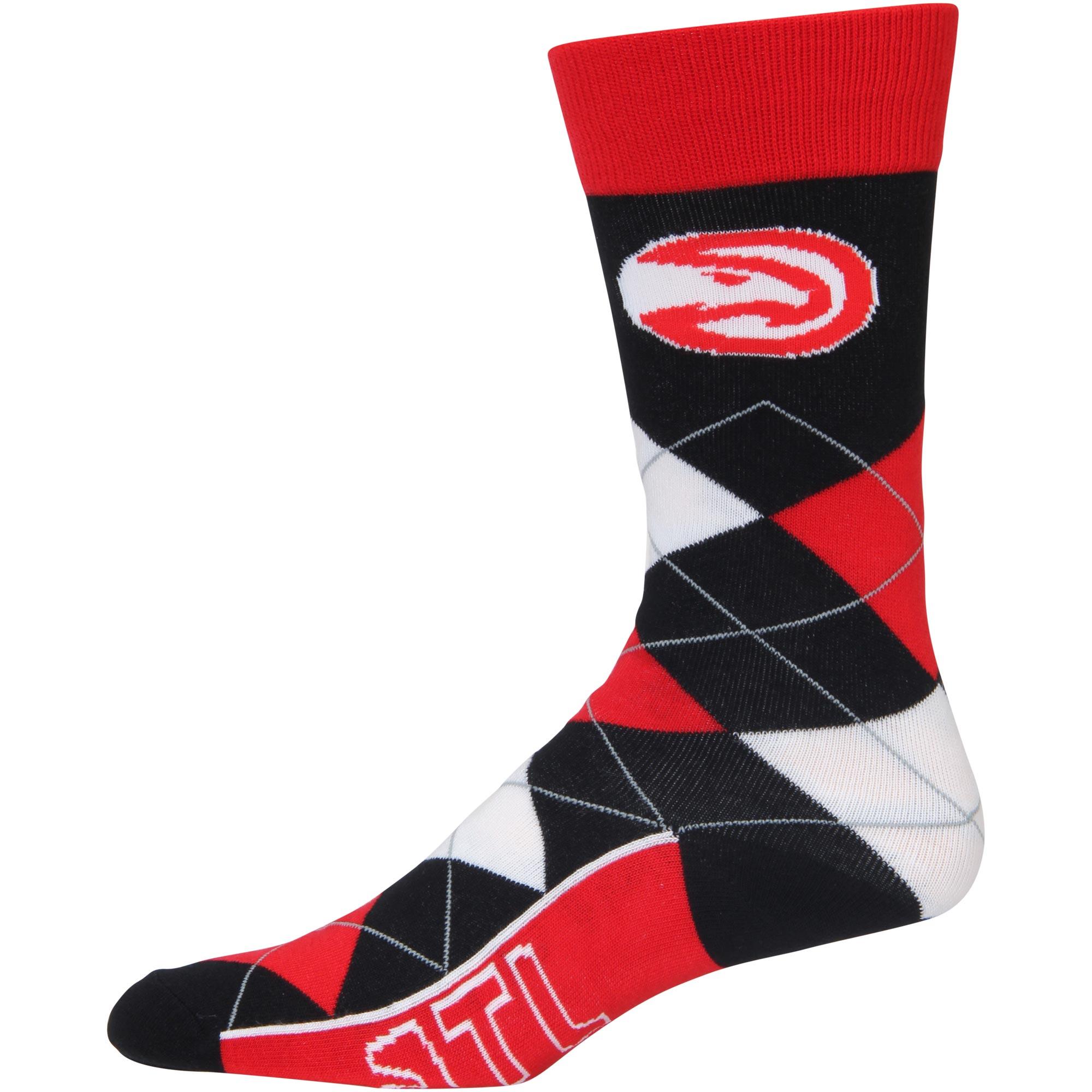Atlanta Hawks For Bare Feet Argyle Crew Socks