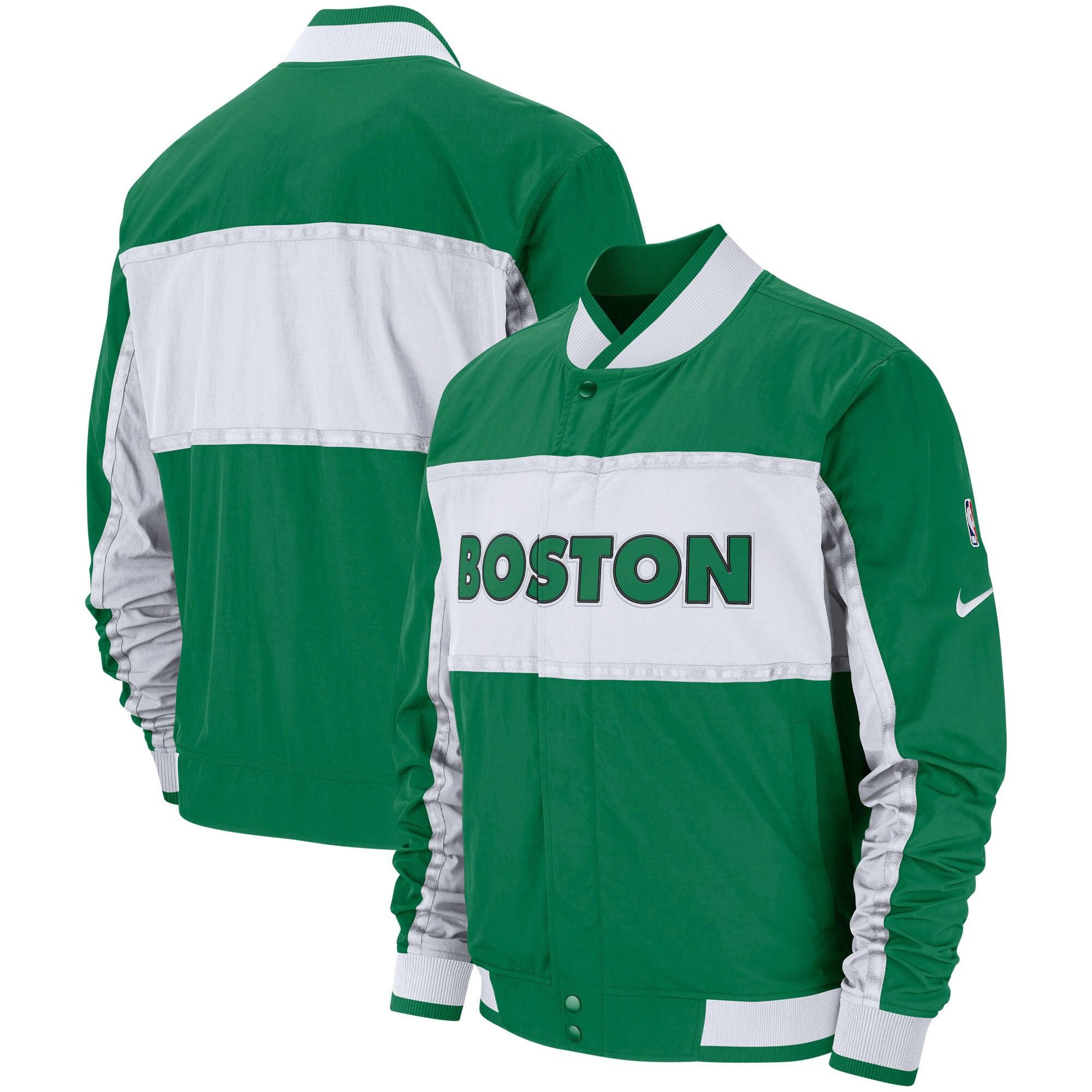 Boston Celtics Nike Authentic Courtside Icon Full-Snap Jacket - Kelly Green