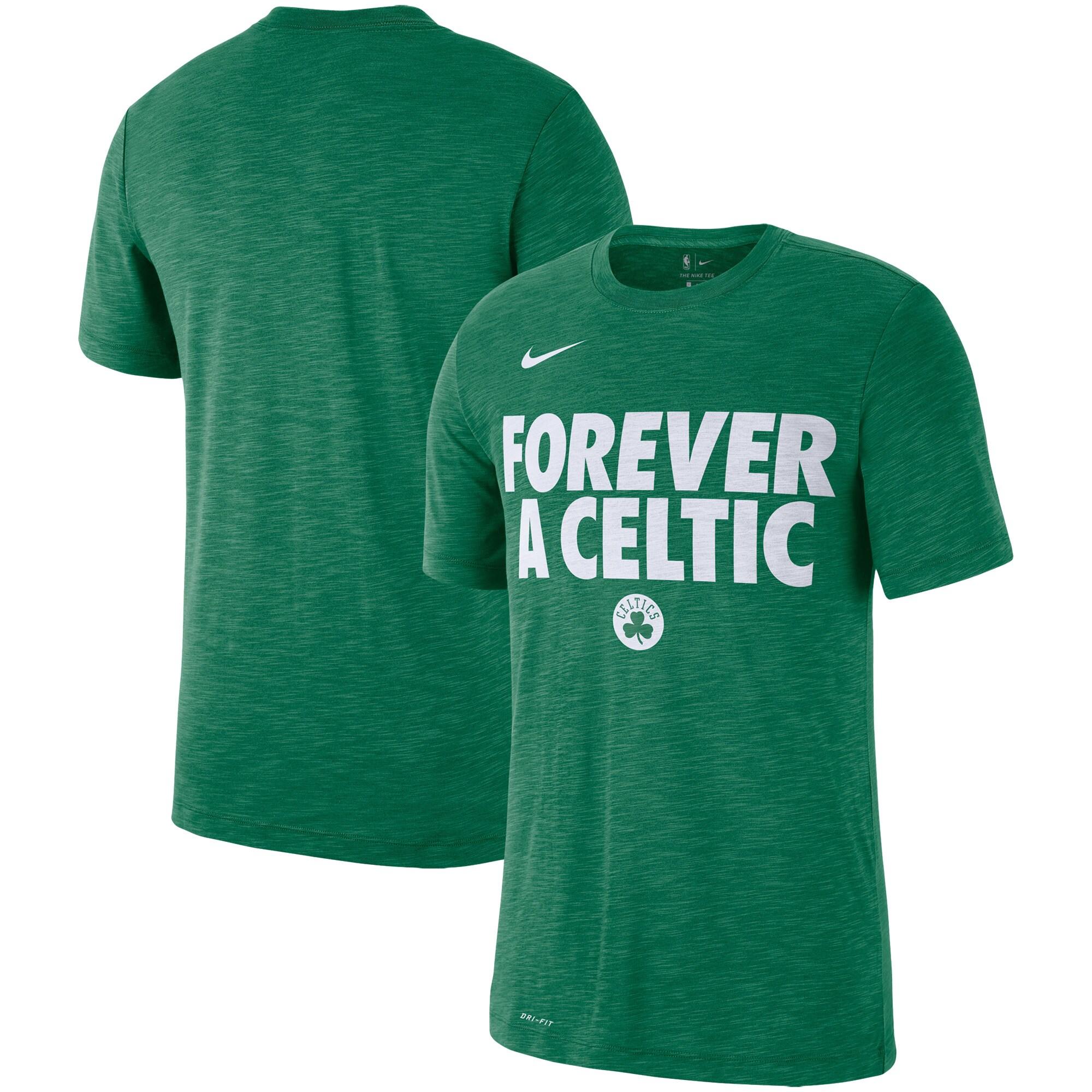 Boston Celtics Nike Essential Team Attitude Performance T-Shirt - Heathered Kelly Green