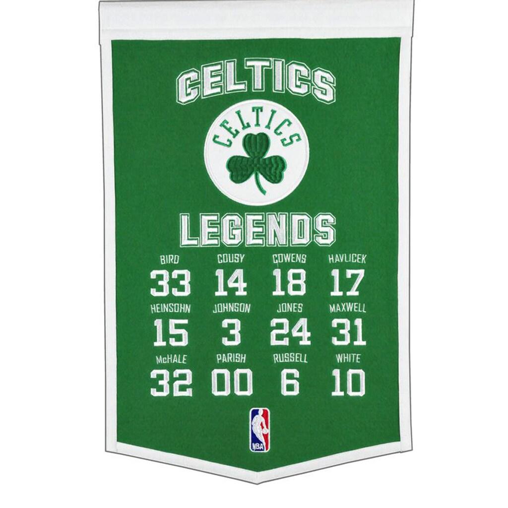 "Boston Celtics 14"" x 22"" Legends Banner"