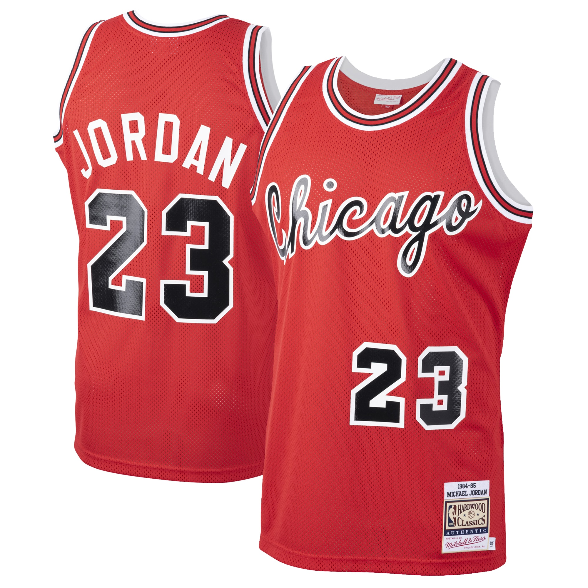 Michael Jordan Chicago Bulls Mitchell & Ness 1984-85 Hardwood Classics Rookie Authentic Jersey - Red