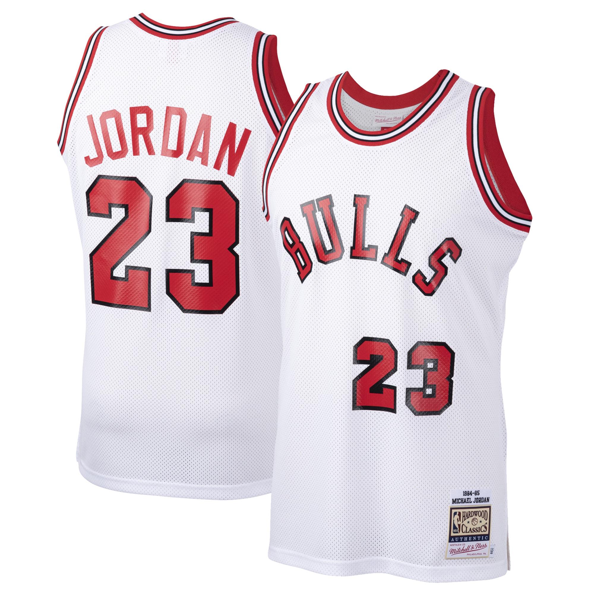 Michael Jordan Chicago Bulls Mitchell & Ness 1984-85 Hardwood Classics Rookie Authentic Jersey - White