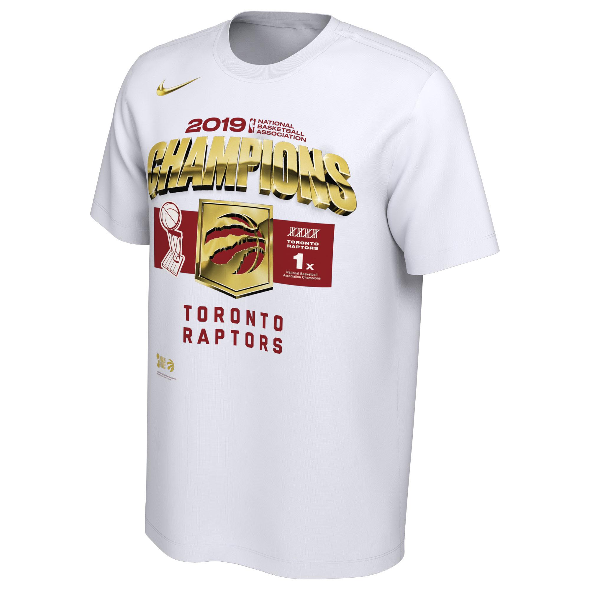 Toronto Raptors Nike 2019 NBA Finals Champions Locker Room T-Shirt - White