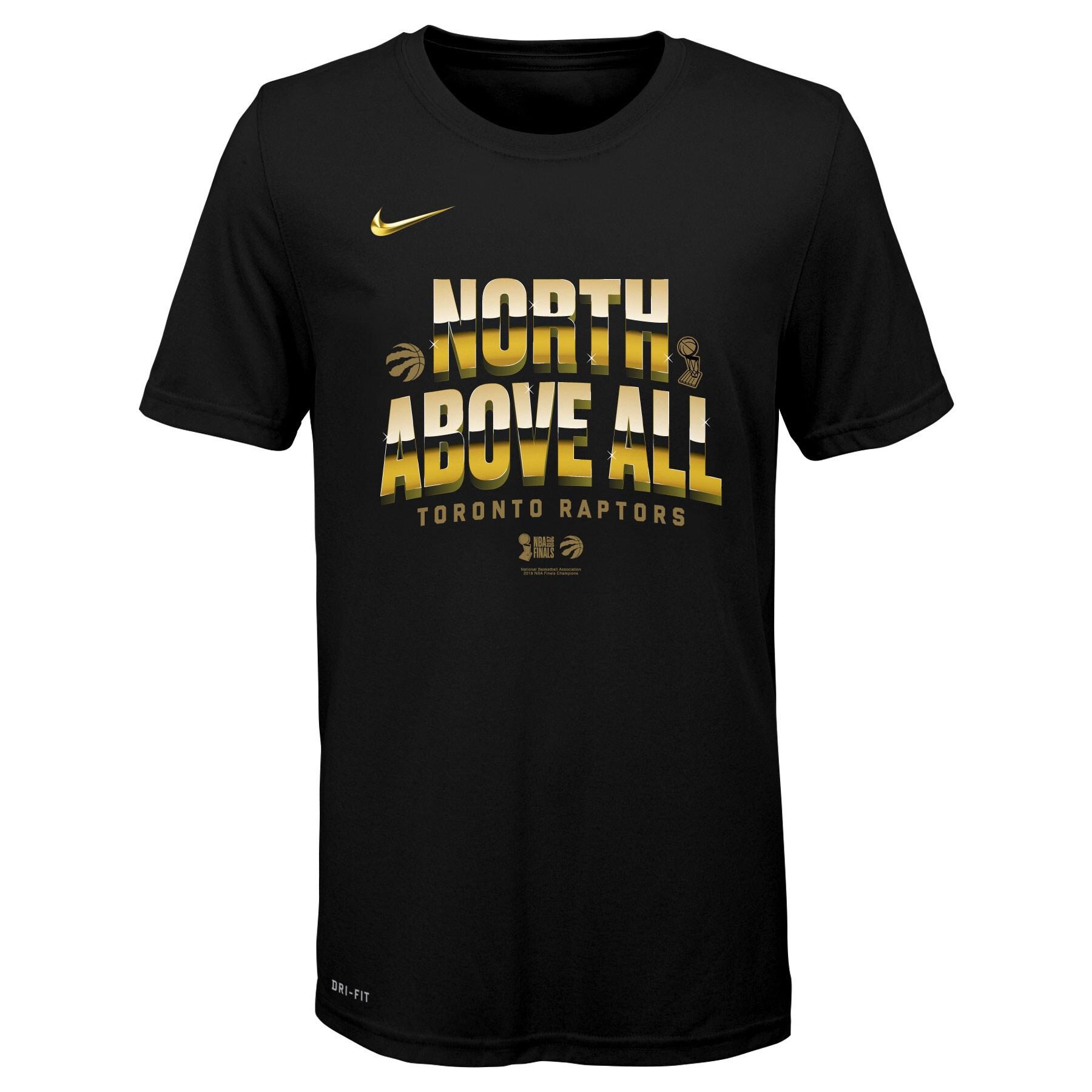 Toronto Raptors Nike Youth 2019 NBA Finals Champions Celebration Mantra T-Shirt - Black