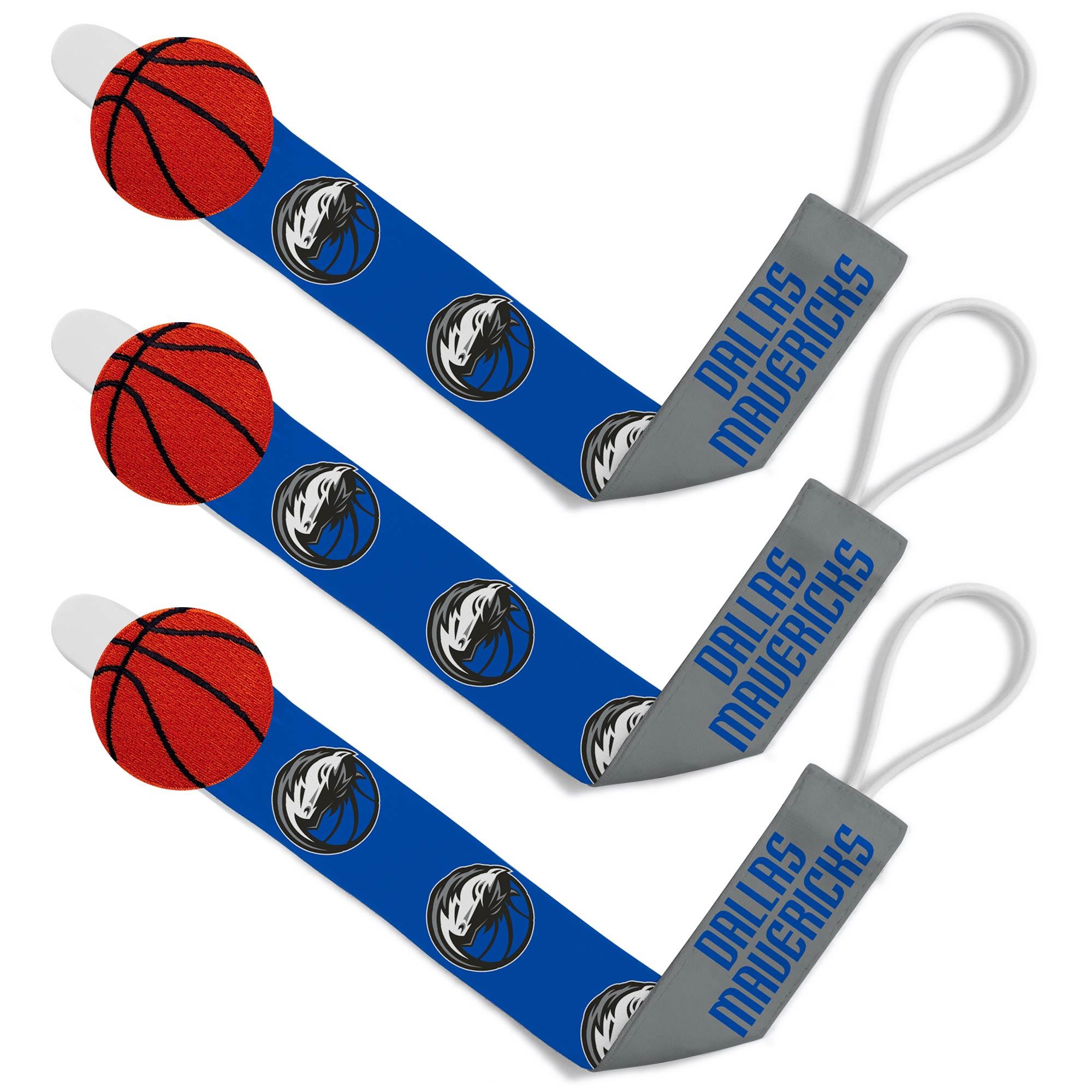 Dallas Mavericks Infant 3-Pack Pacifier Clip Set