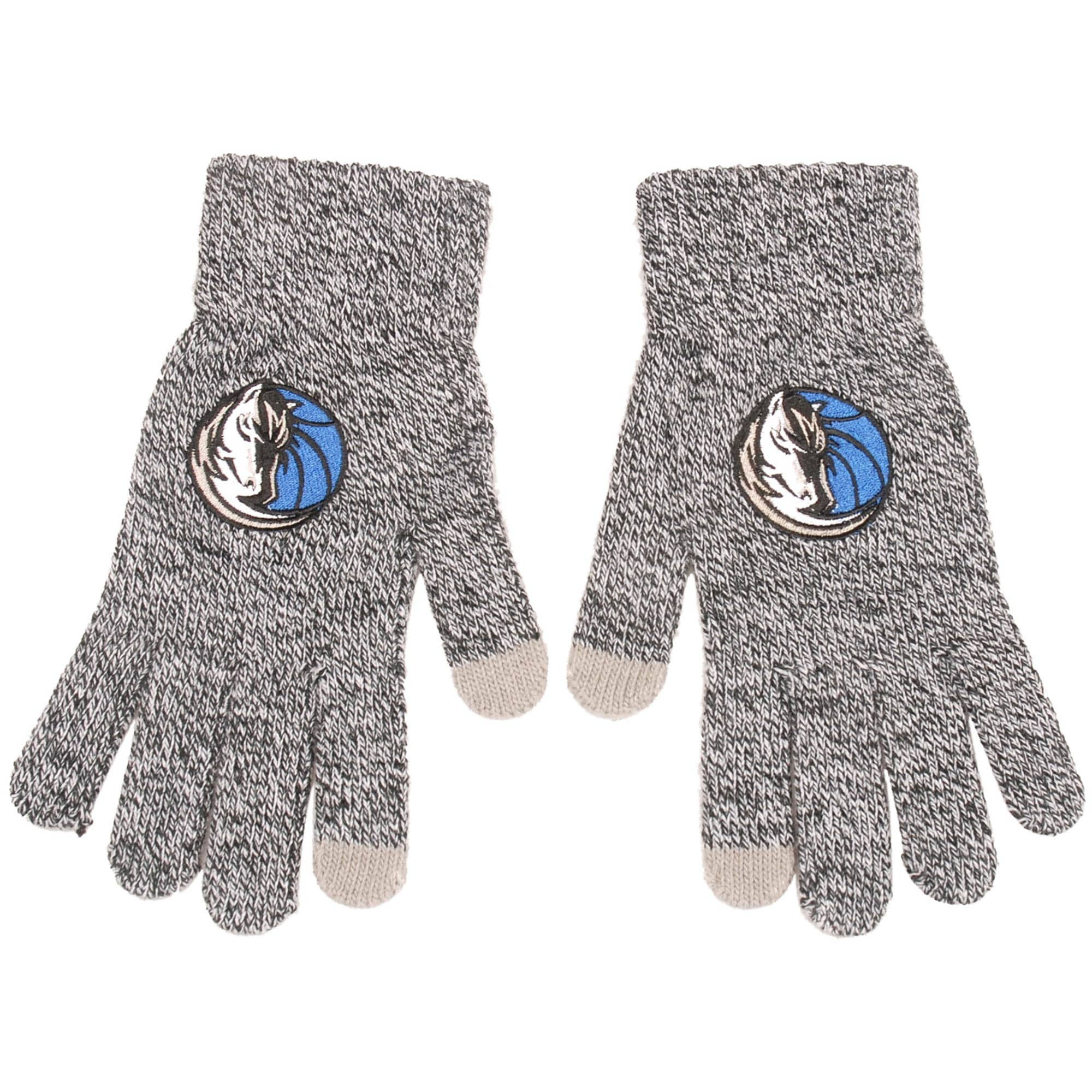 Dallas Mavericks Knit Gloves - Gray