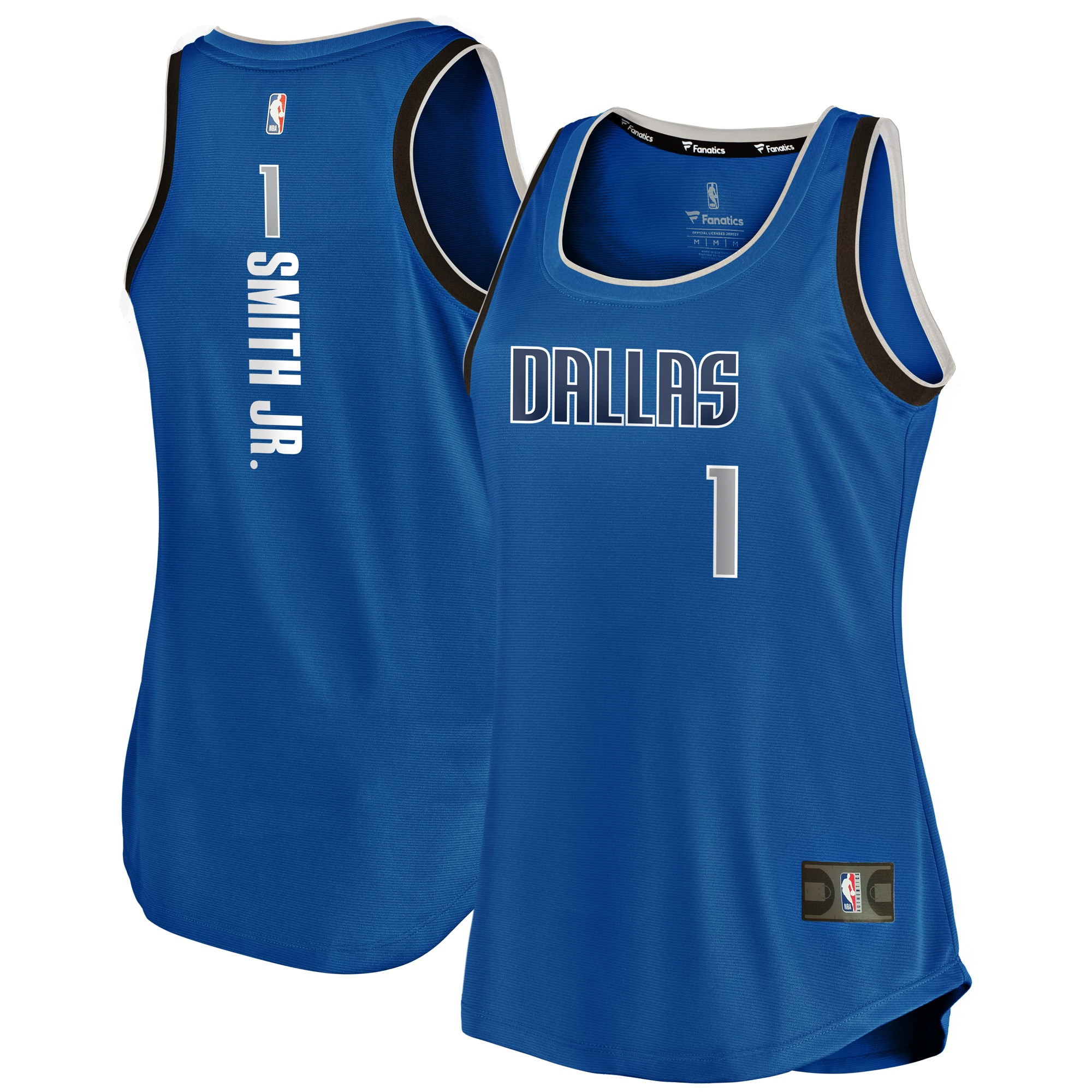 Dennis Smith Jr Dallas Mavericks Fanatics Branded Women's Fast Break Tank Jersey - Icon Edition - Royal