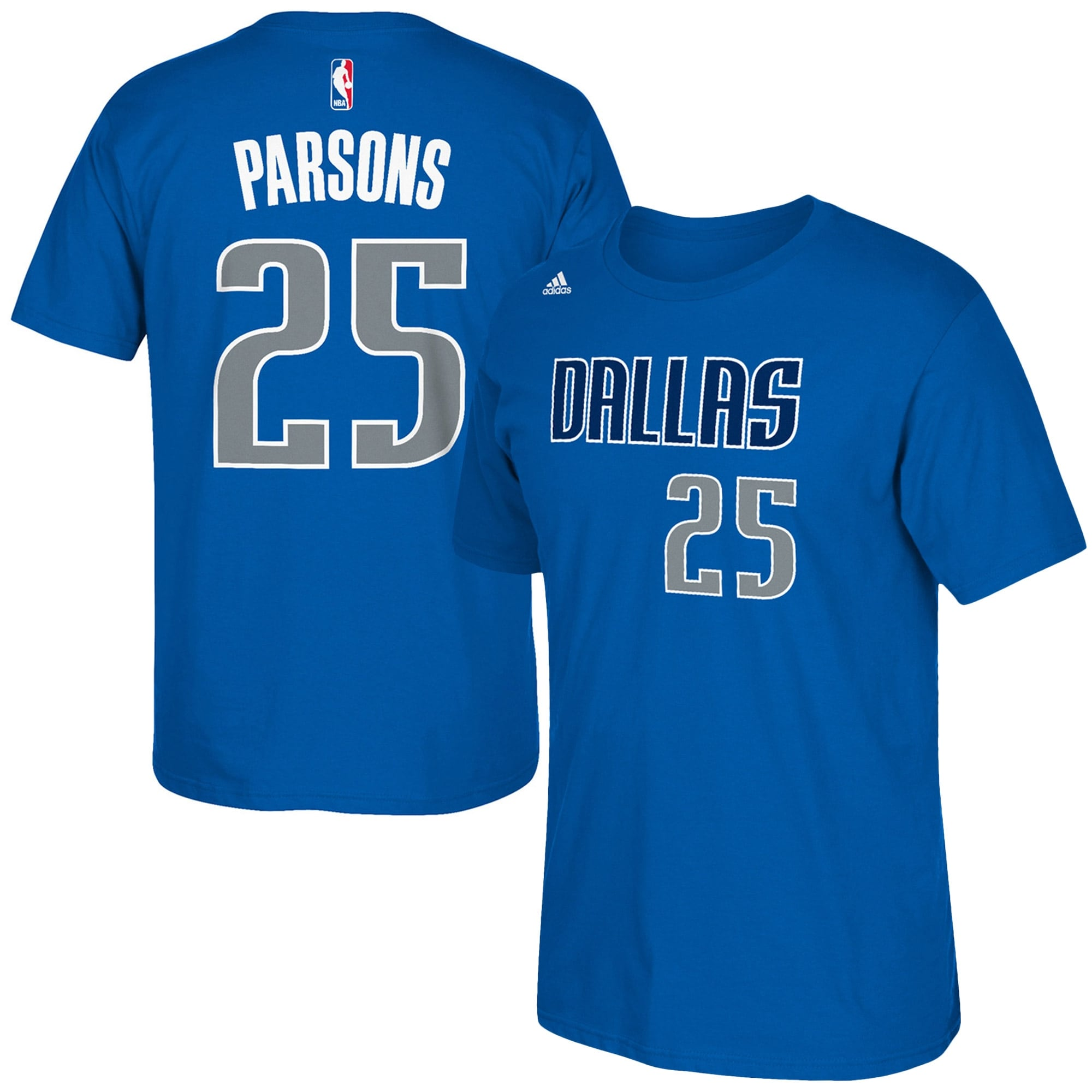 Chandler Parsons Dallas Mavericks adidas Net Number T-Shirt - Royal Blue
