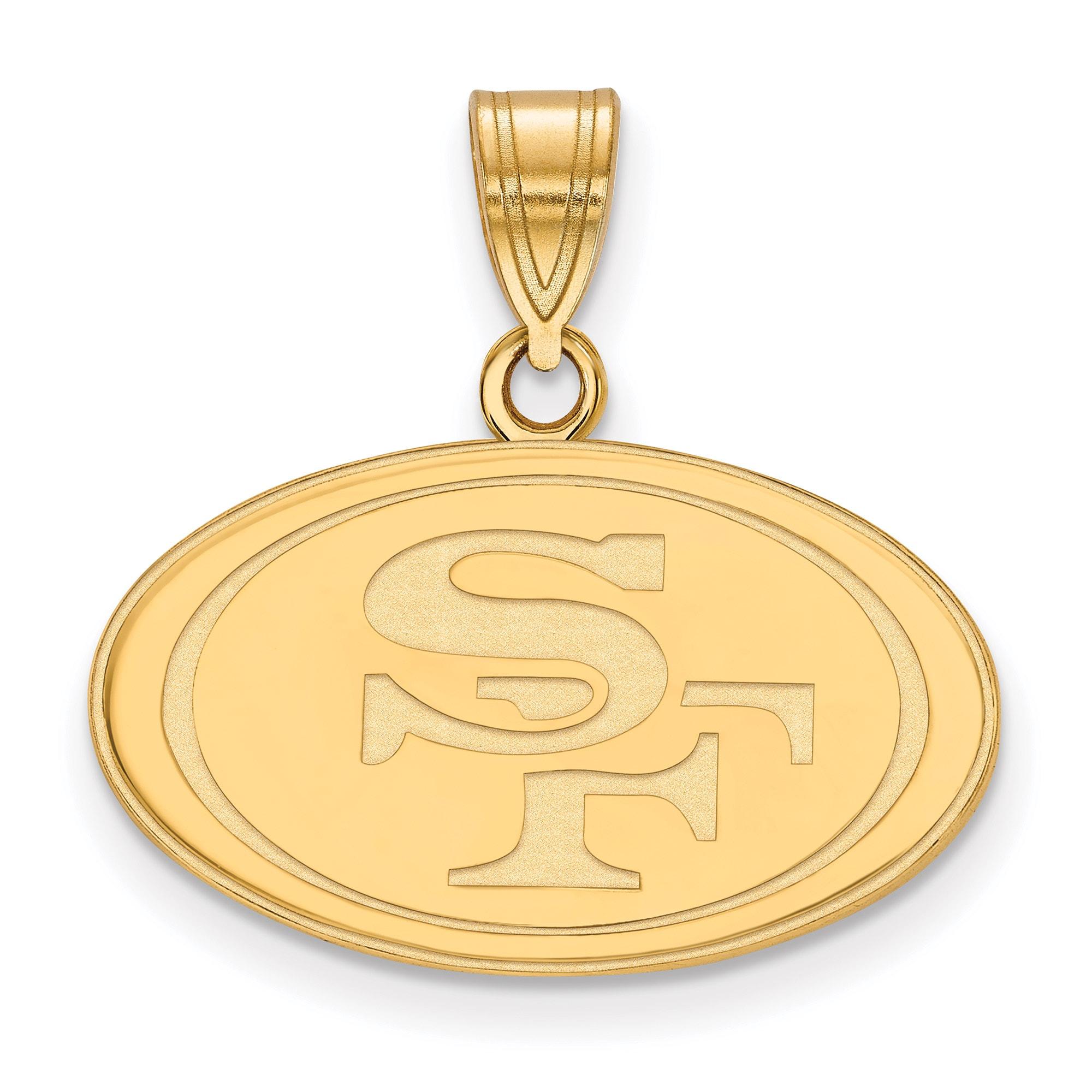 San Francisco 49ers Gold-Plated Medium Logo Pendant
