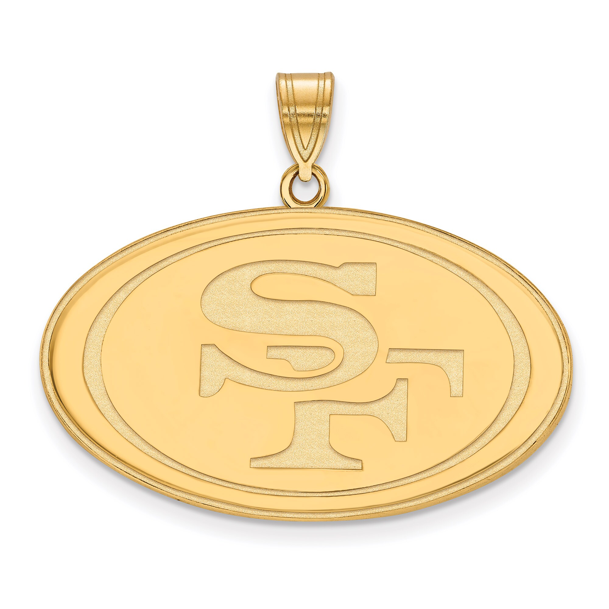 San Francisco 49ers Gold-Plated Extra Large Logo Pendant