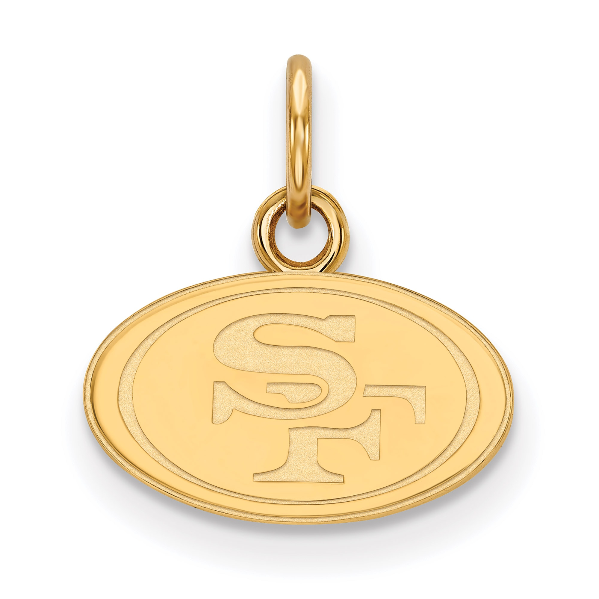 San Francisco 49ers Gold-Plated Extra Small Logo Charm