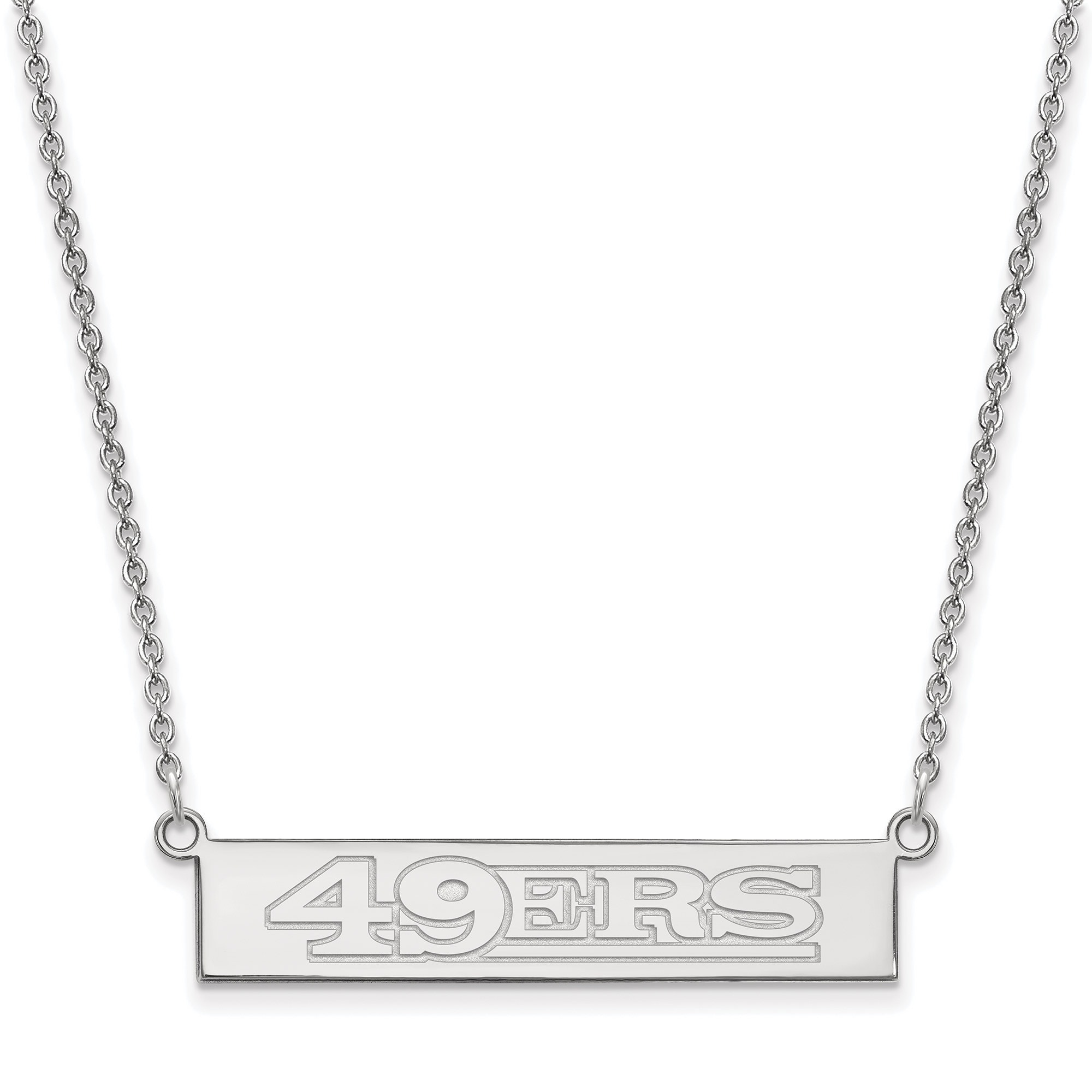 San Francisco 49ers Sterling Silver Bar Necklace