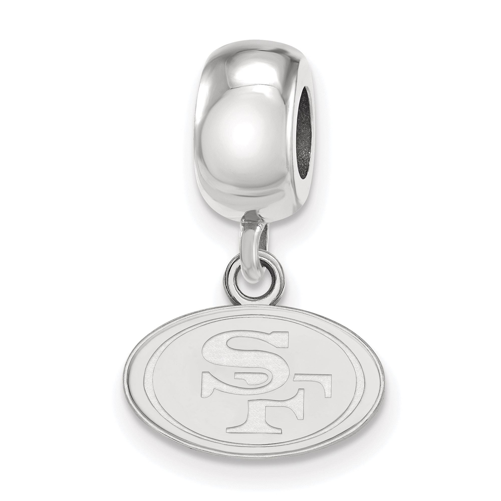 San Francisco 49ers Sterling Silver Bead Dangle Charm