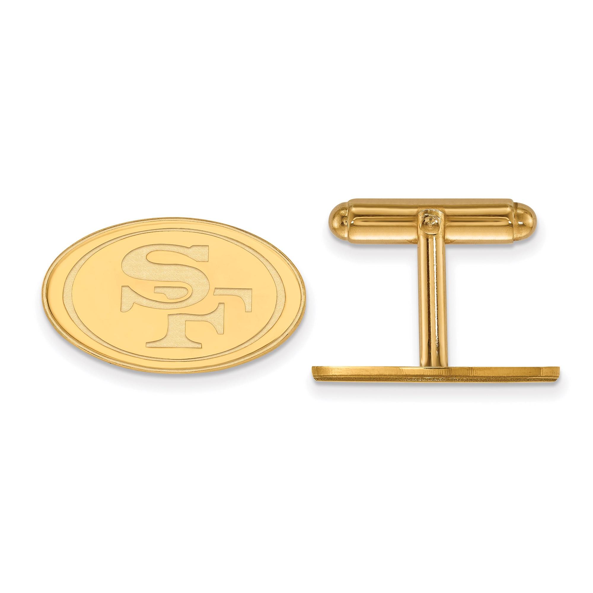 San Francisco 49ers Gold-Plated Logo Cufflinks