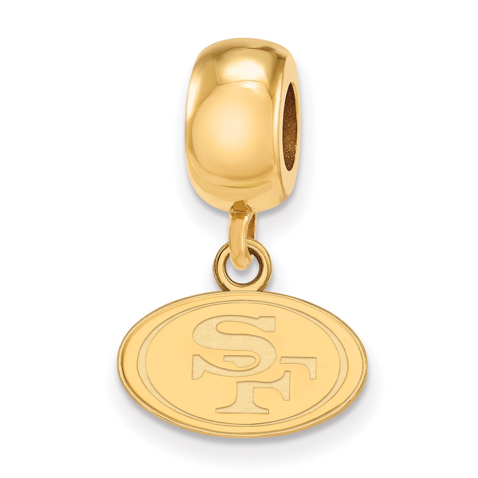 San Francisco 49ers Gold-Plated Bead Dangle Charm