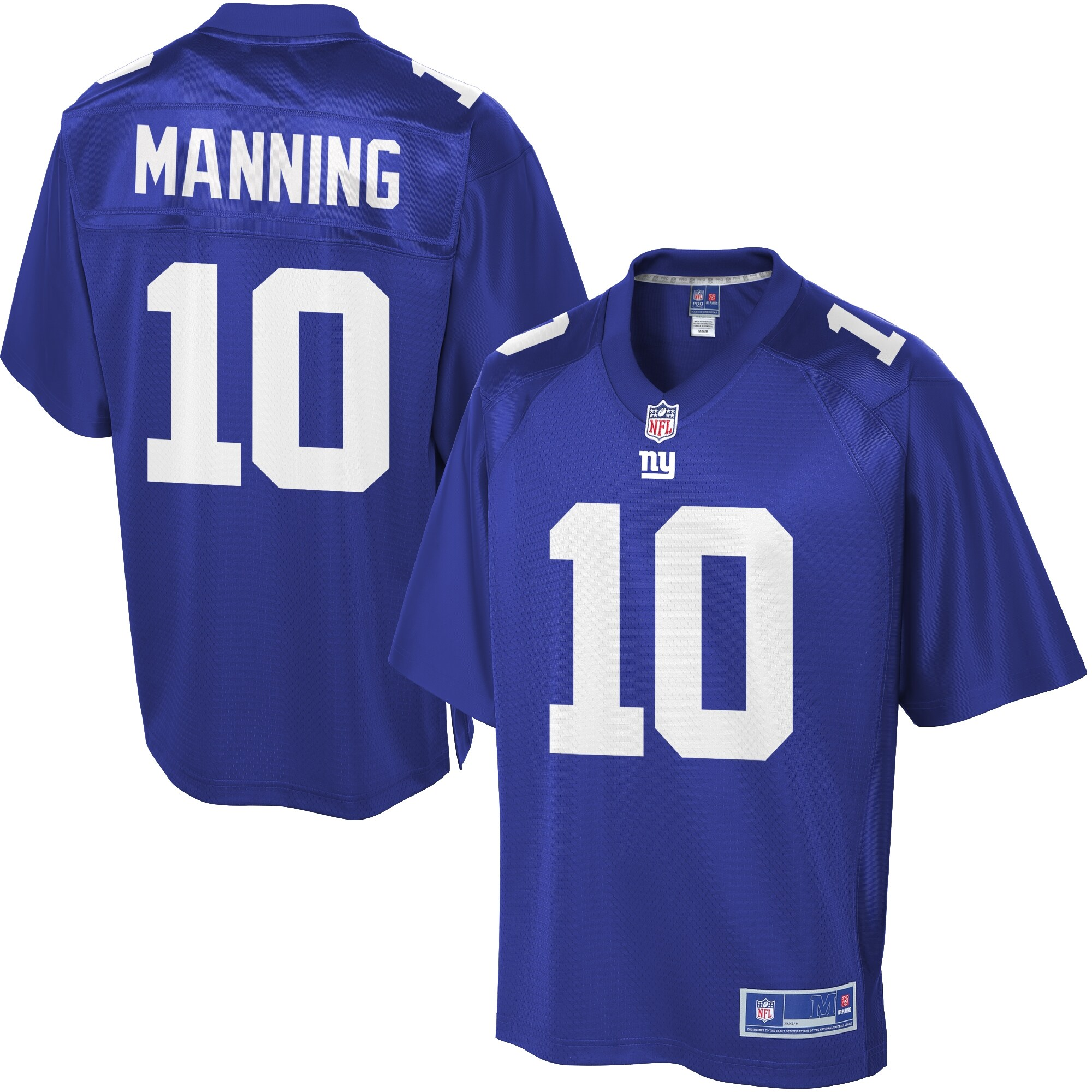 Youth New York Giants Eli Manning Pro Line Team Color Jersey