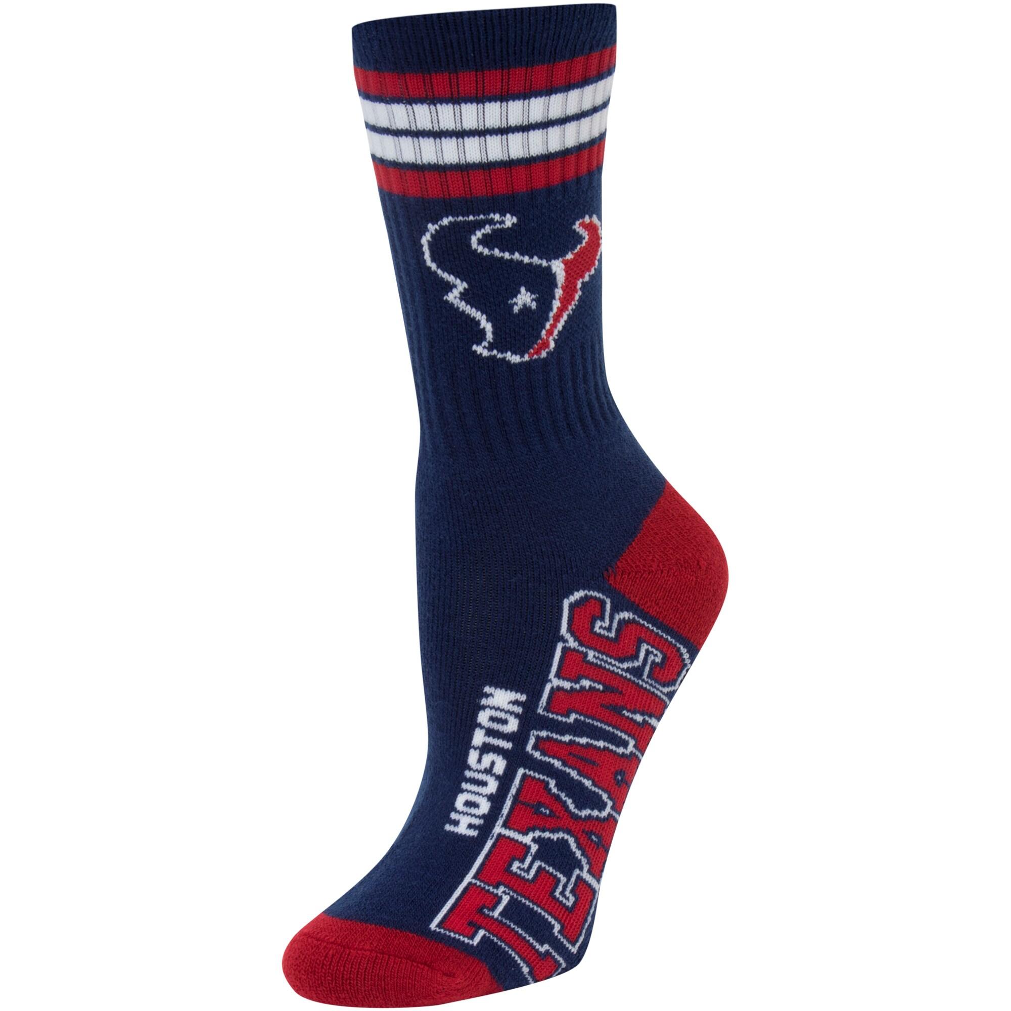 Houston Texans For Bare Feet Women's Four Stripe Socks