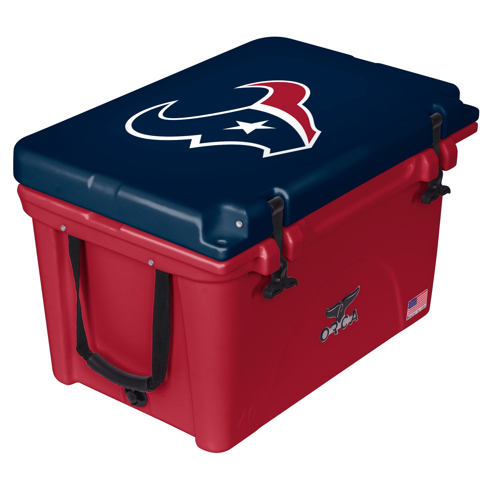 Houston Texans ORCA 40-Quart Hard-Sided Cooler - Red/Navy