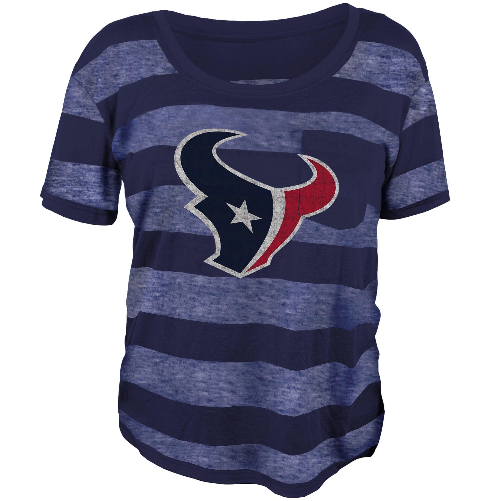 Houston Texans Juniors Bolder Burnout T-Shirt - Navy Blue