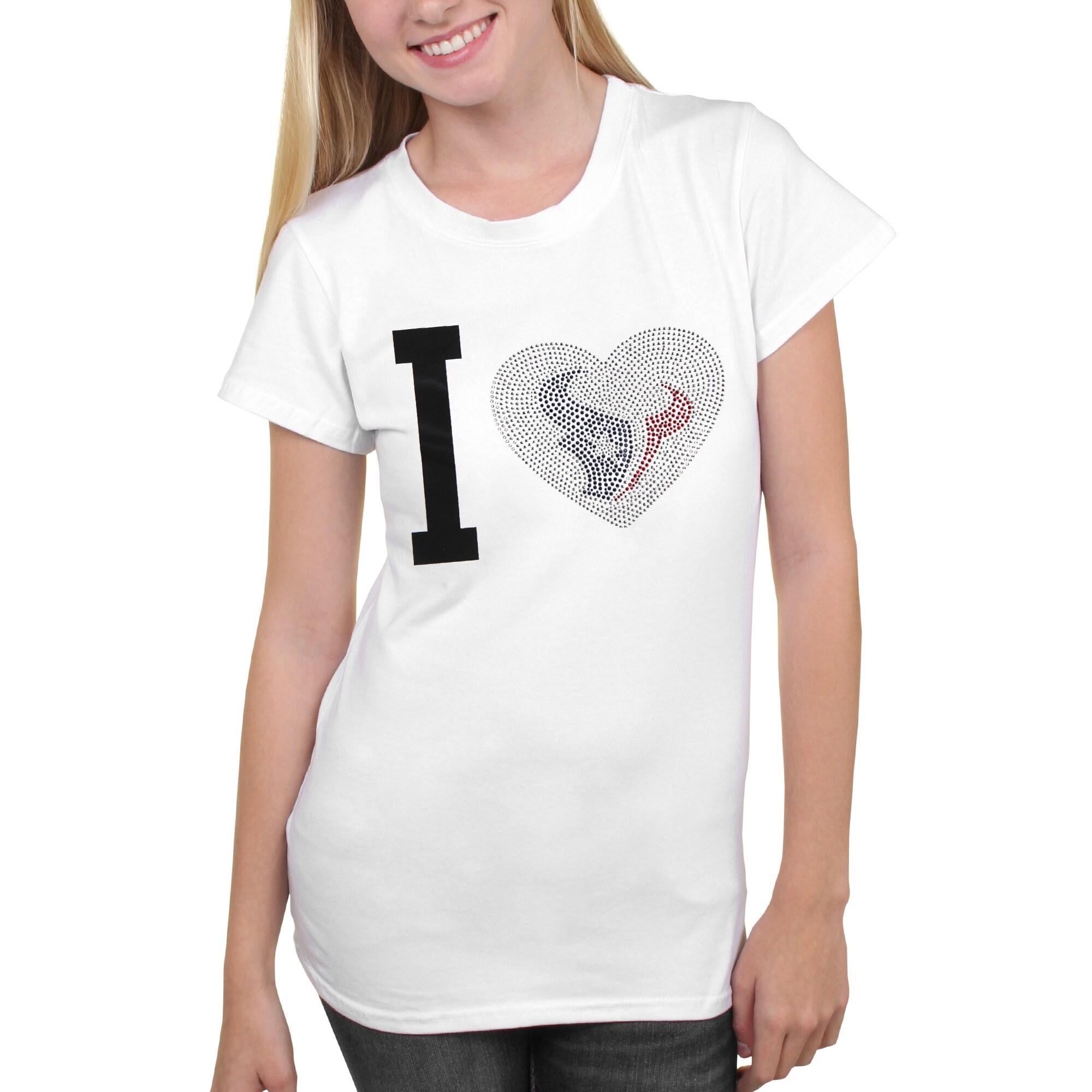 Houston Texans Women's Touchback T-Shirt - White