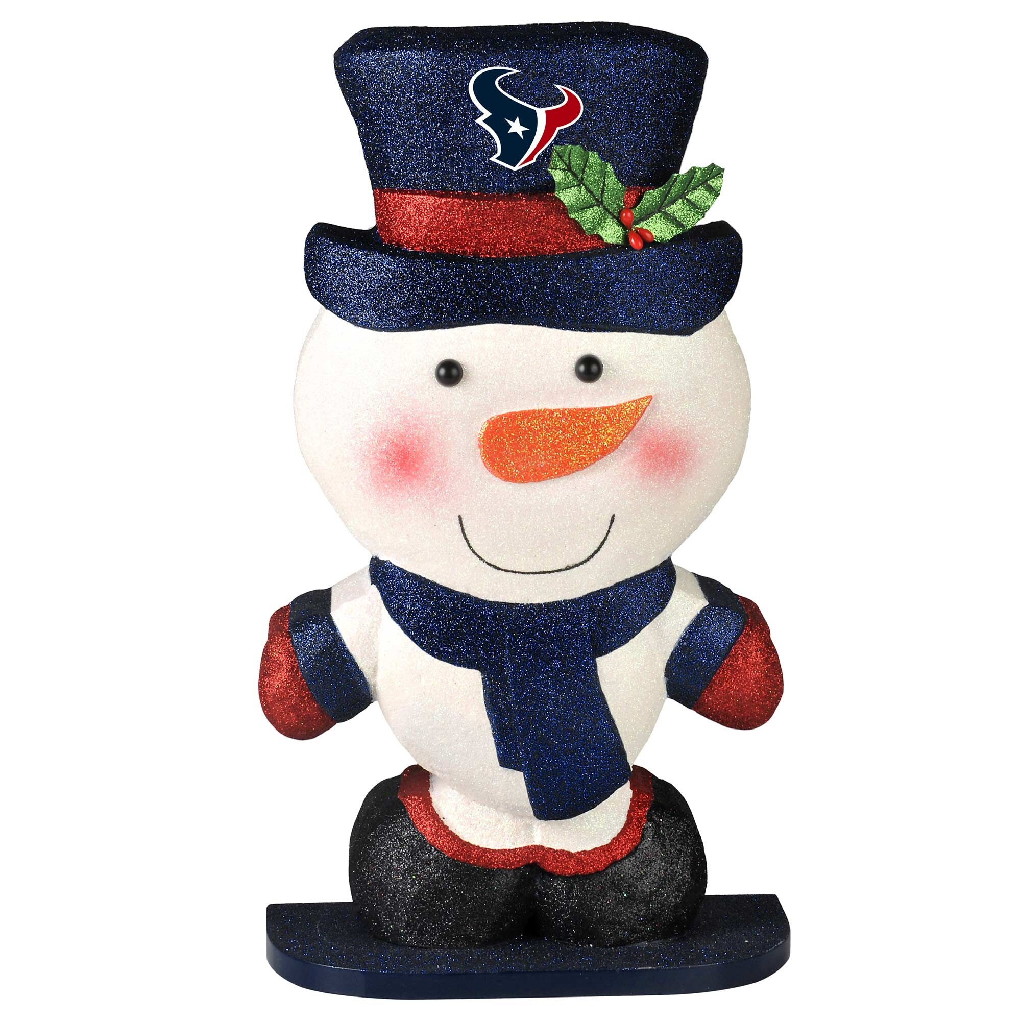 Houston Texans Polystyrene Snowman Figurine